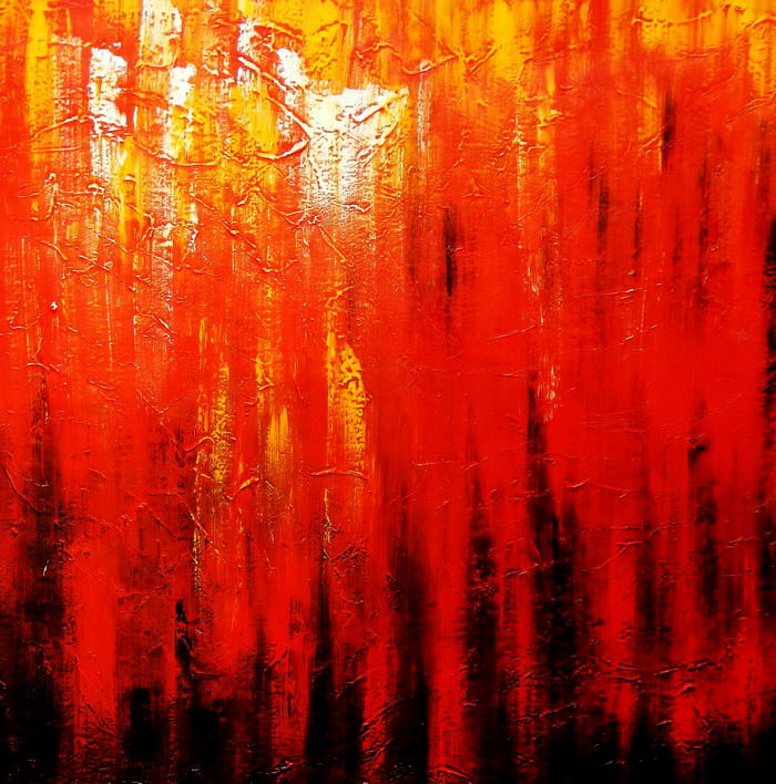 Abstract - Legacy of Fire III m90866 120x120cm abstraktes Ölbild handgemalt