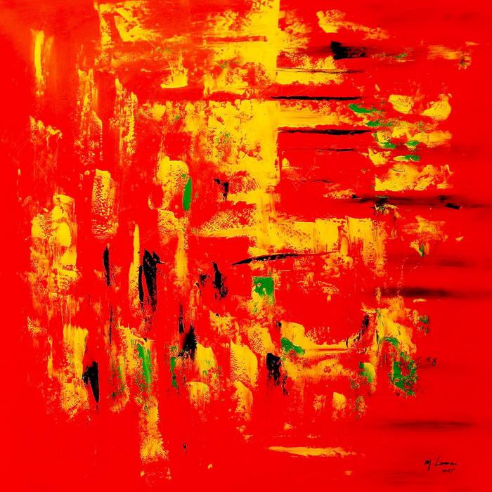 Abstrakt - Hot summer in Santa Fe m90873 120x120cm Ölbild handgemalt
