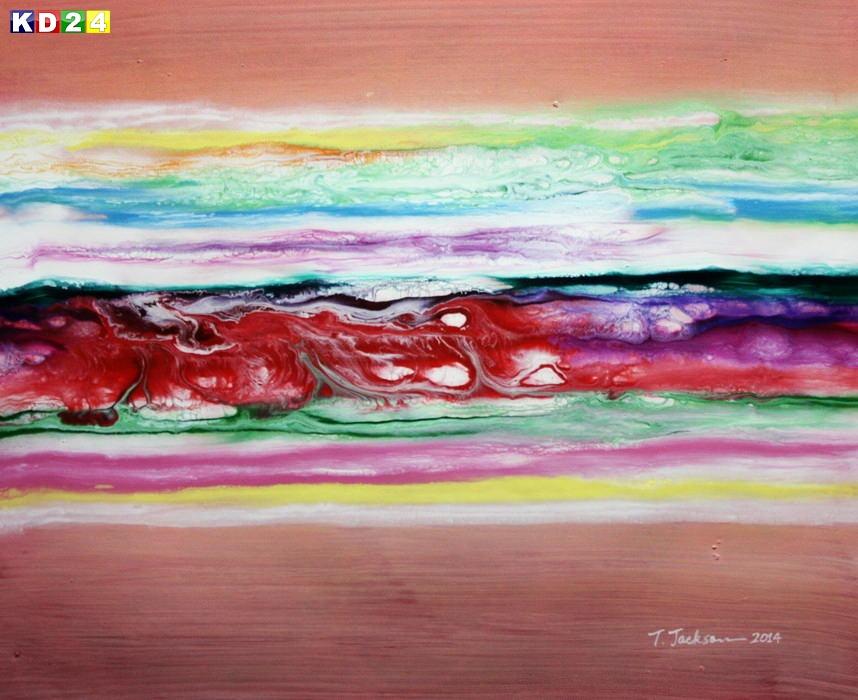 Abstrakt - Fraktale Energie c88919 50x60cm abstraktes Ölgemälde
