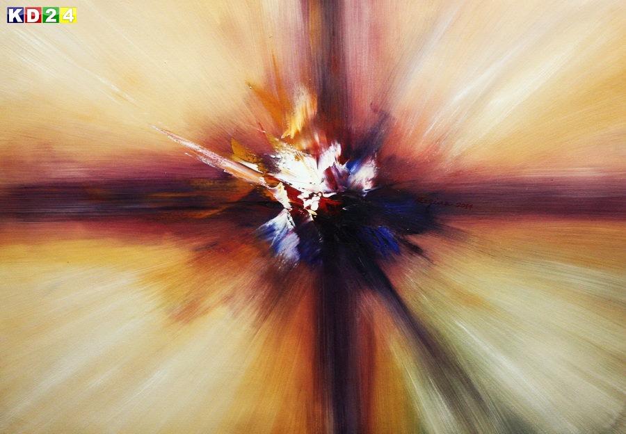 Abstrakt - Strahlen der Natur d88756 60x90cm Modern Art Ölgemälde handgemalt