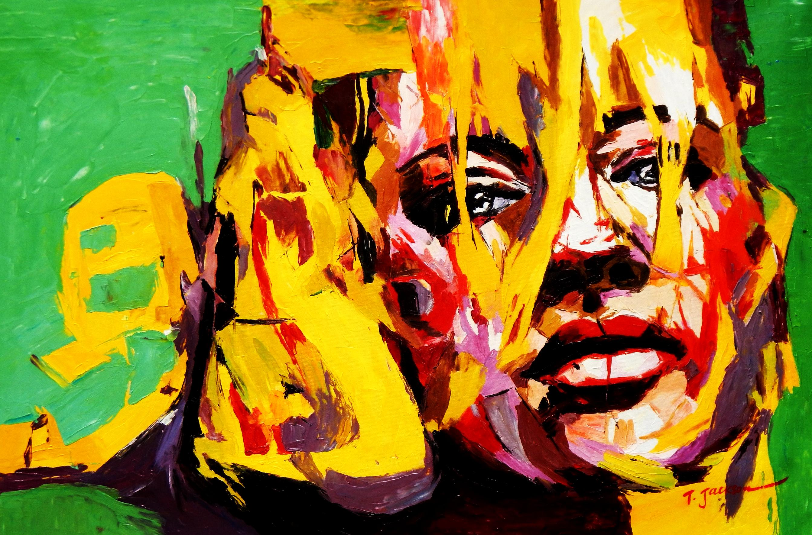 Modern Art - Die Intuition d92231 60x90cm abstraktes Ölbild handgemalt