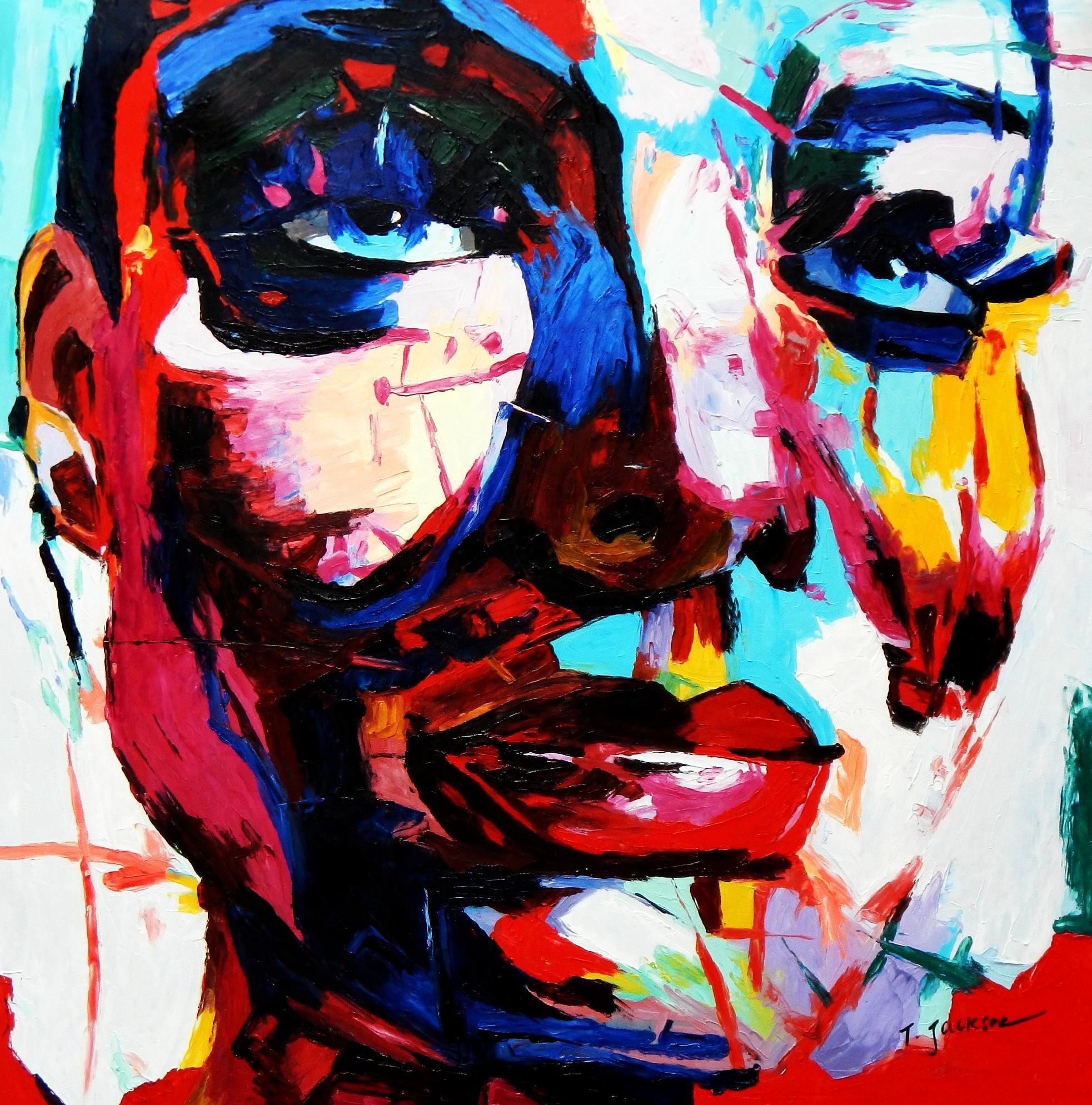 Modern Art - Die Zufriedenheit g92357 80x80cm exquisites Ölgemälde
