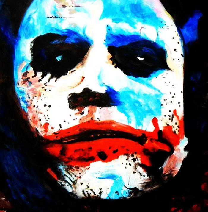Homage of the Dark Knight - The Joker g92362 80x80cm exquisites Ölgemälde