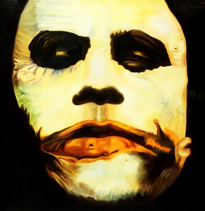Homage of the Dark Knight - The Joker g92477 80x80cm exquisites Ölgemälde