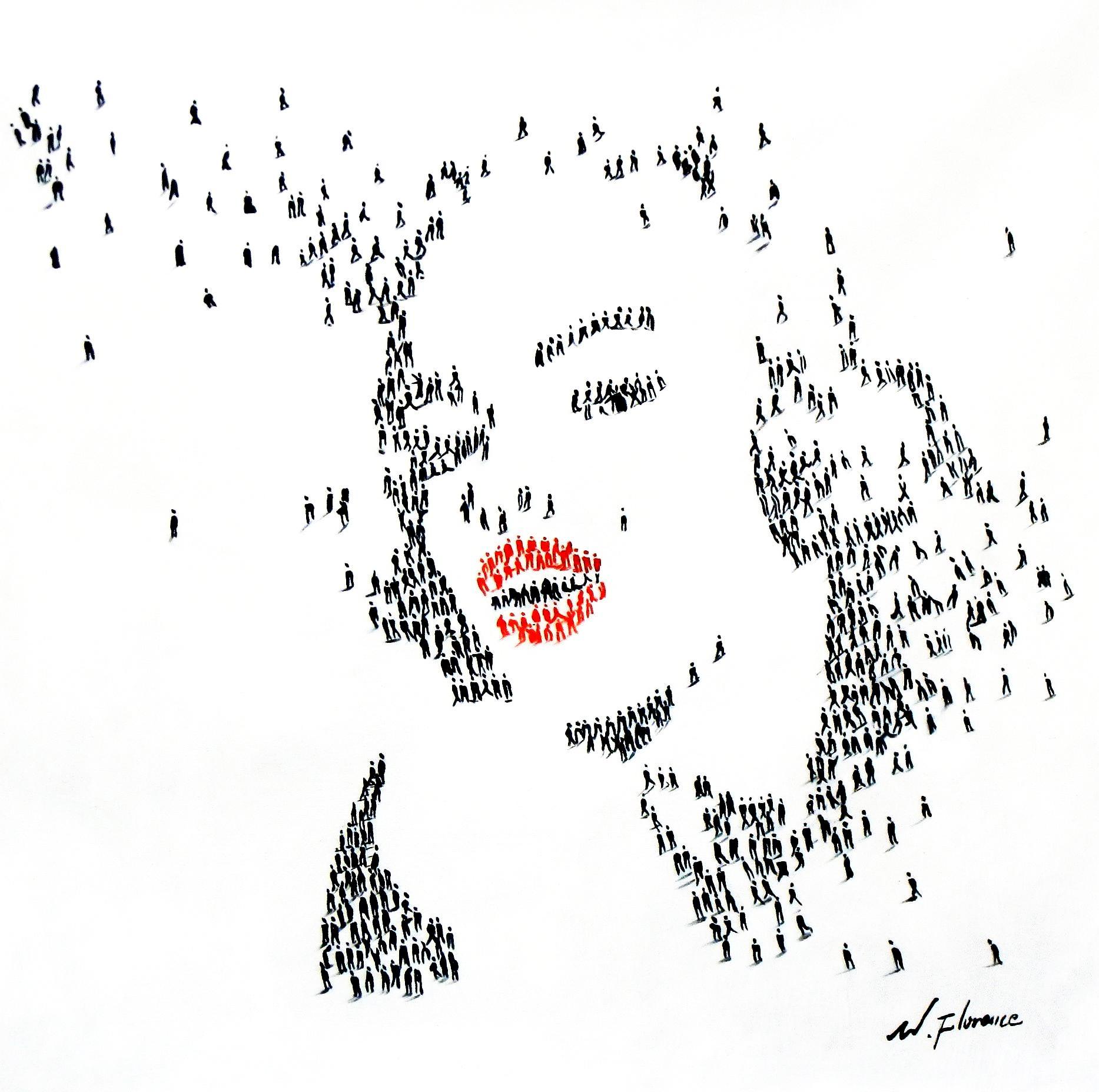 Modern Art - Marylin Monroes people g92524 80x80cm eindrucksvolles Gemälde handgemalt
