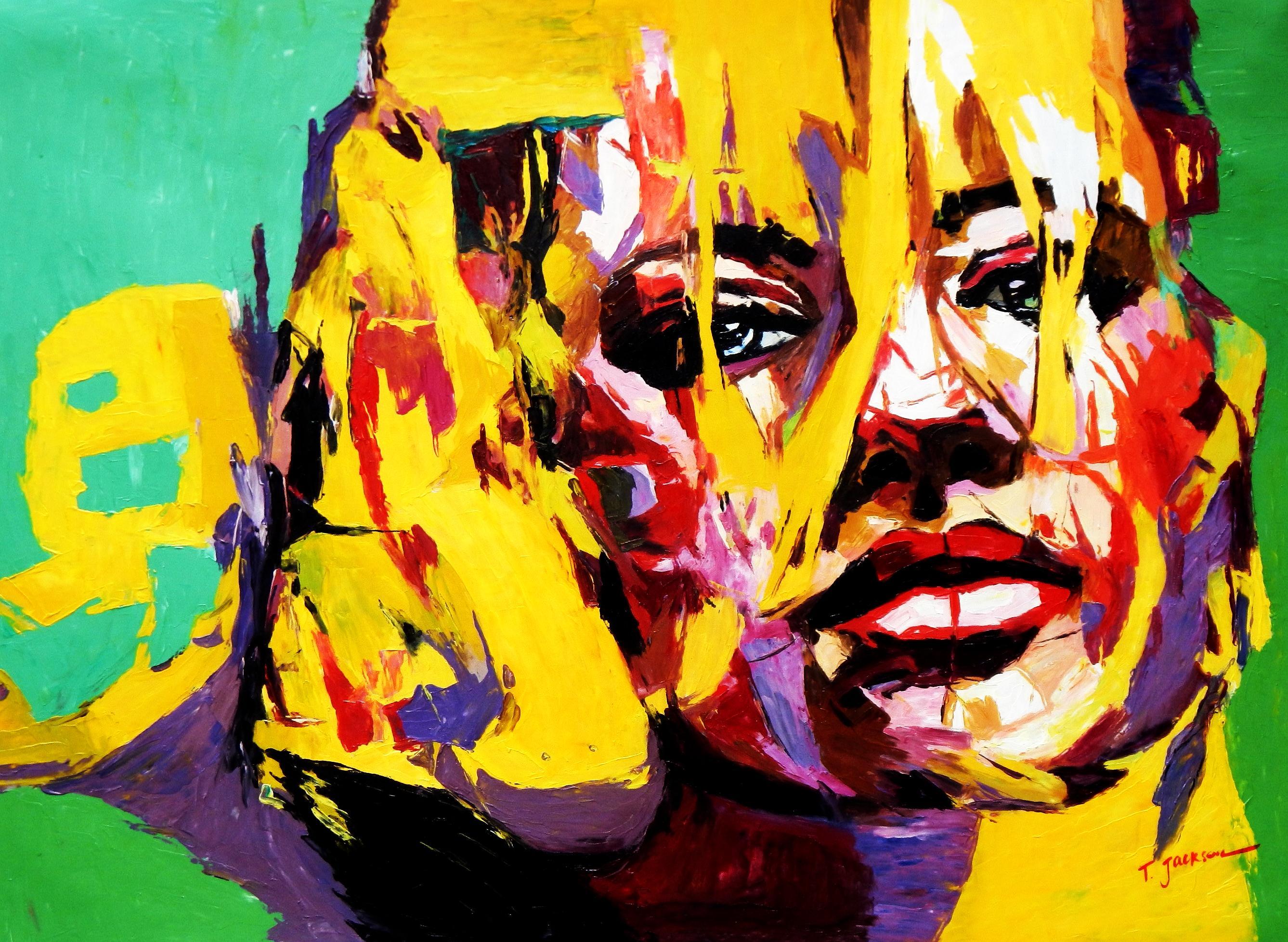 Modern Art - Die Intuition i92395 80x110cm abstraktes Ölbild handgemalt