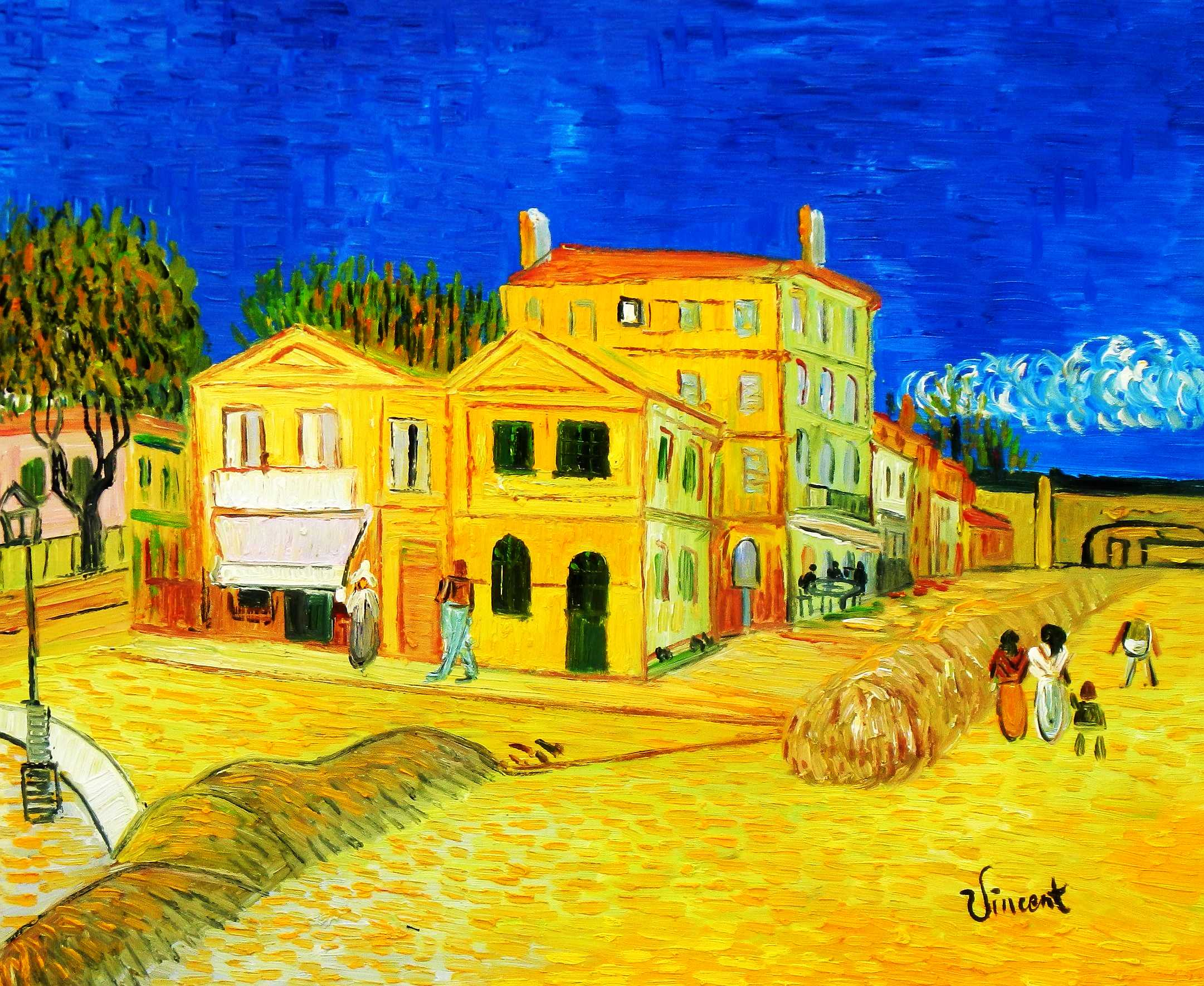 Vincent van Gogh - Das gelbe Haus c95123 50x60cm Gemälde handgemalt