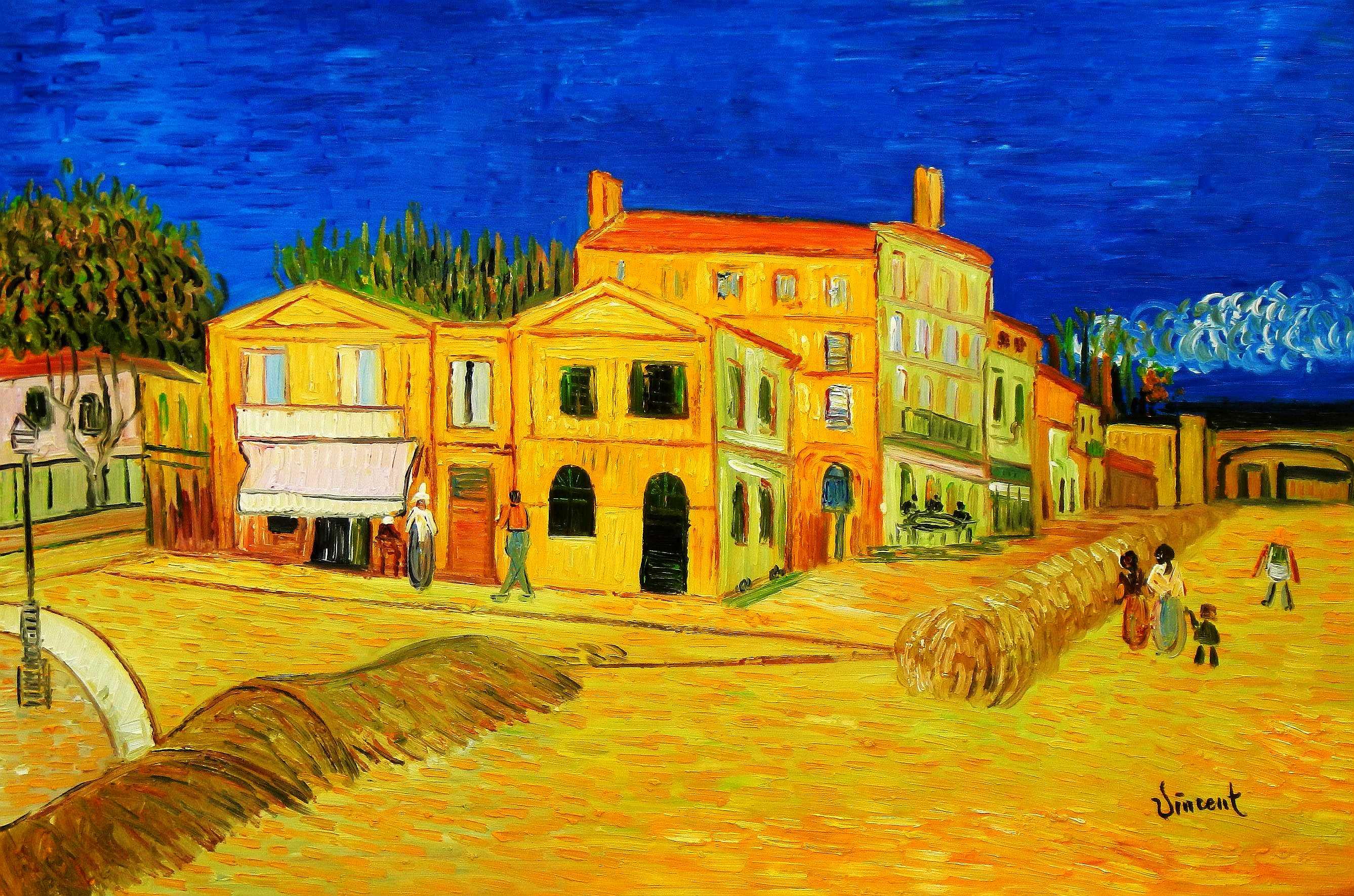 Vincent van Gogh - Das gelbe Haus d95183 60x90cm Gemälde handgemalt
