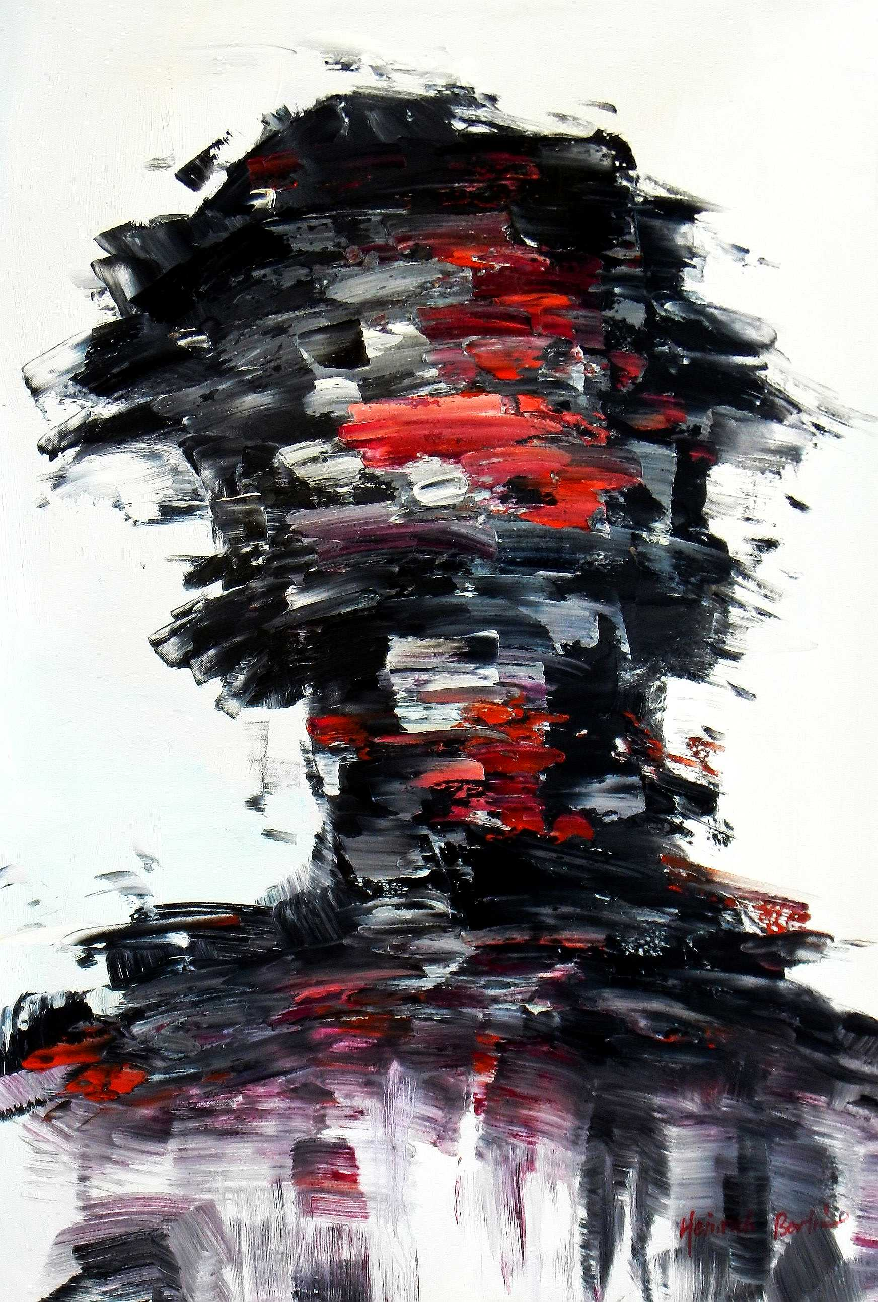 Abstract - Person of interest d95195 60x90cm abstraktes Ölbild