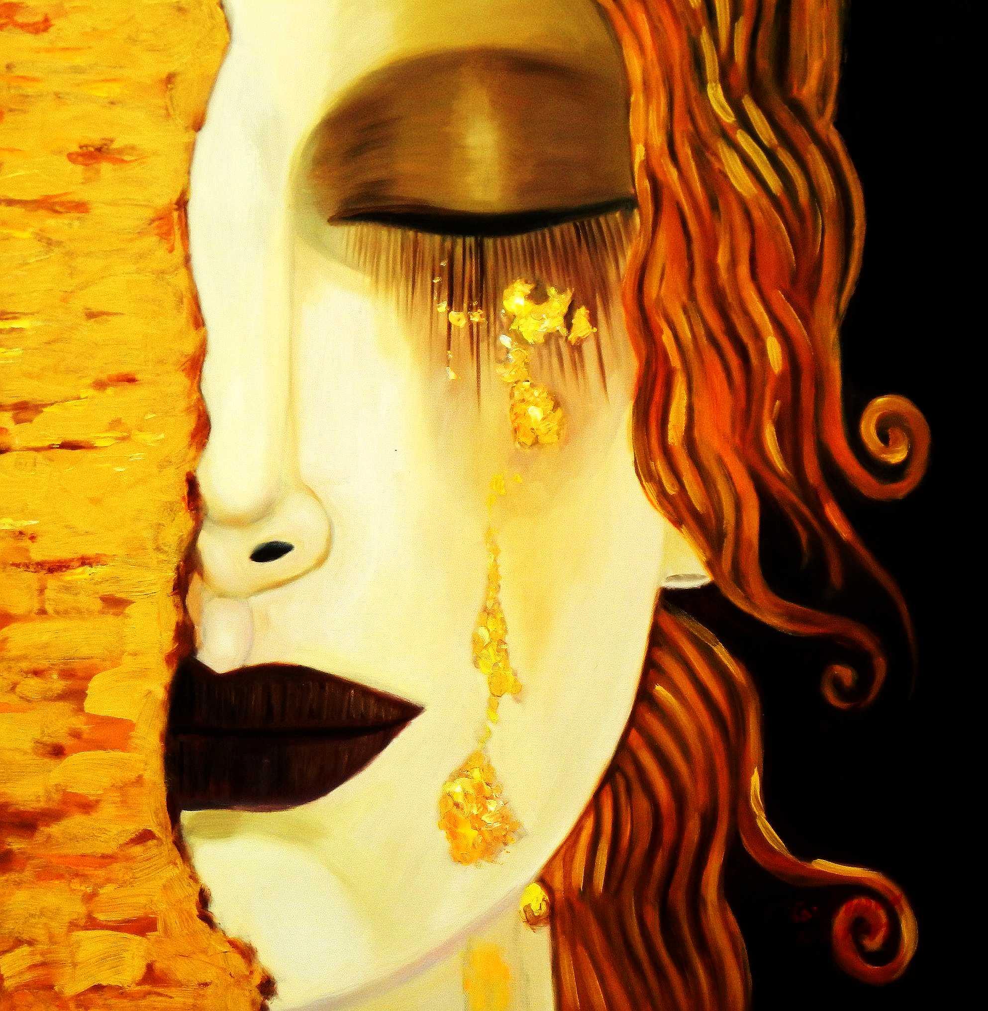 Modern Art - venetian crying e95209 60x60cm beeindruckendes Ölbild