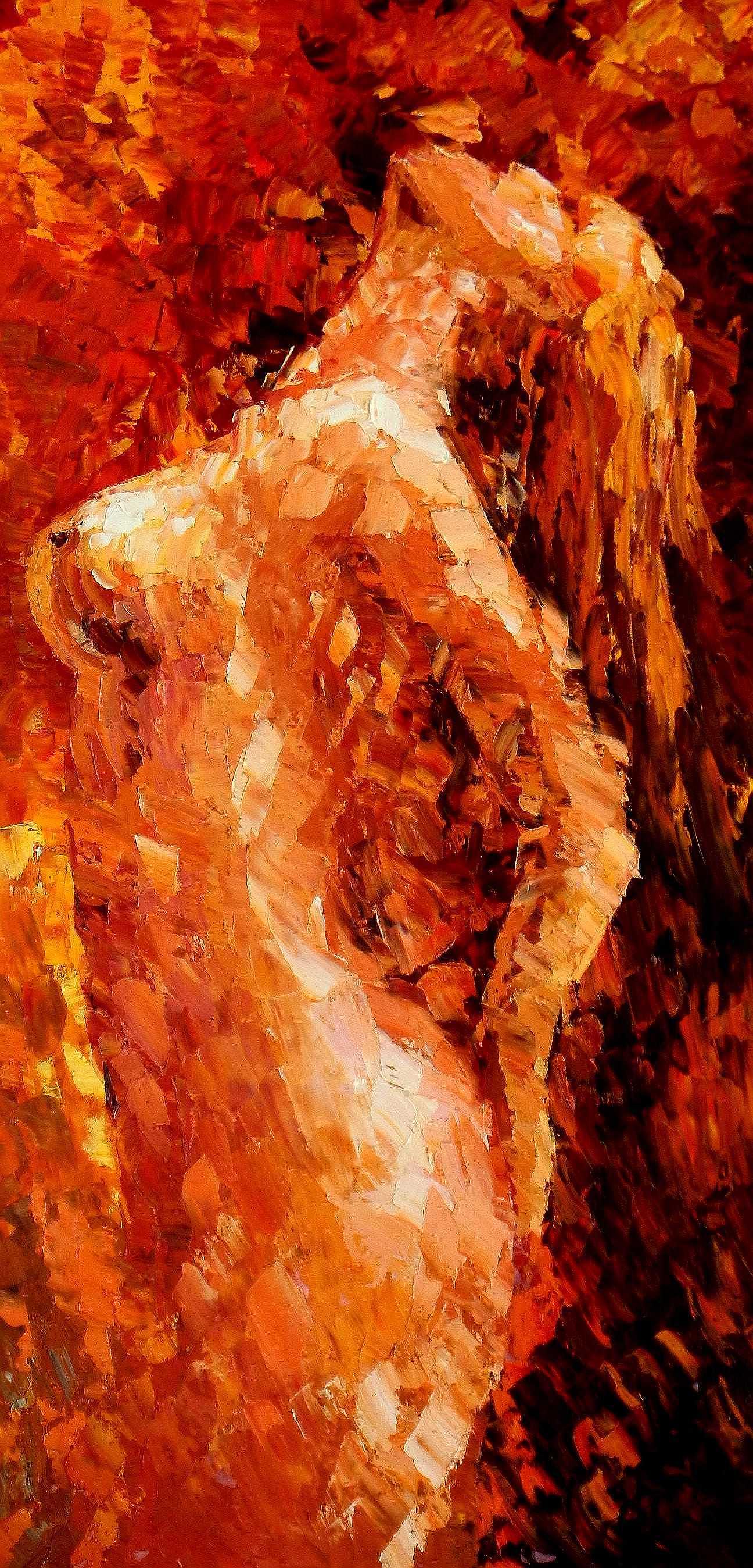 Modern Art - Akt der Schönheit f95215 G 60x120cm abstraktes Ölbild