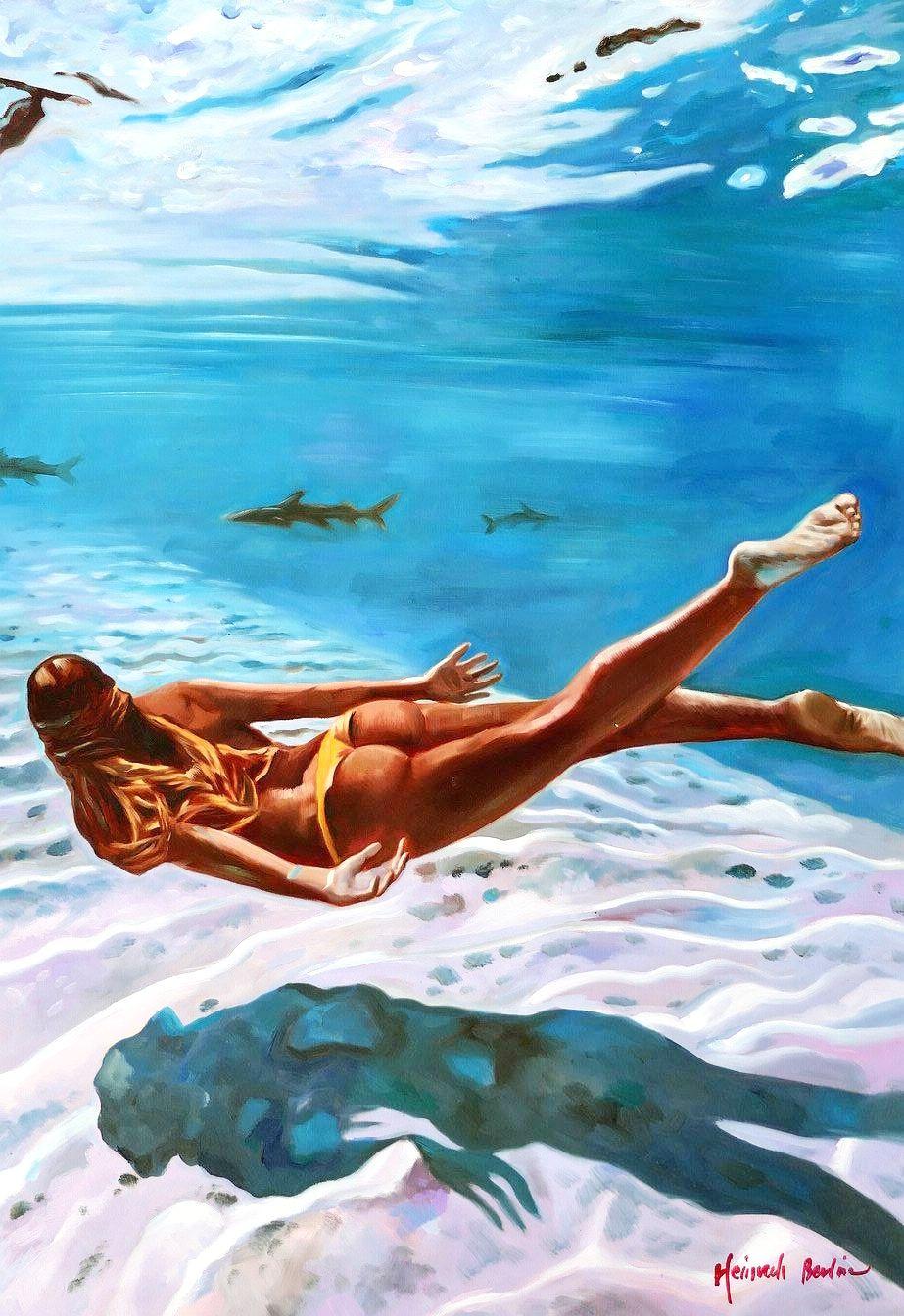 Modern Art - Unter dem Meer d97064 60x90cm beeindruckendes Ölbild