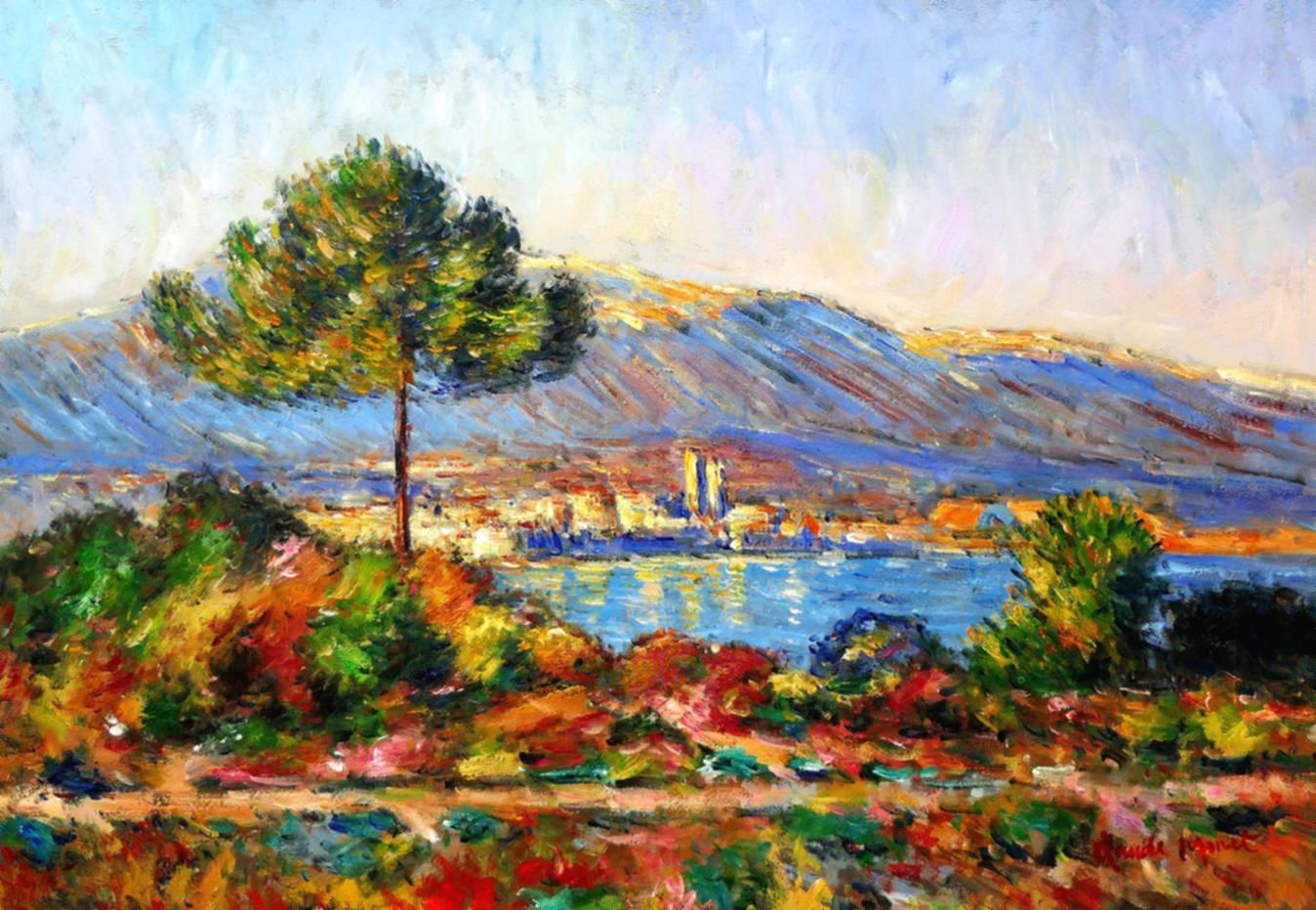 Claude Monet - Blick auf Antibes von Notre Dame d97071 60x90cm Ölgemälde handgemalt