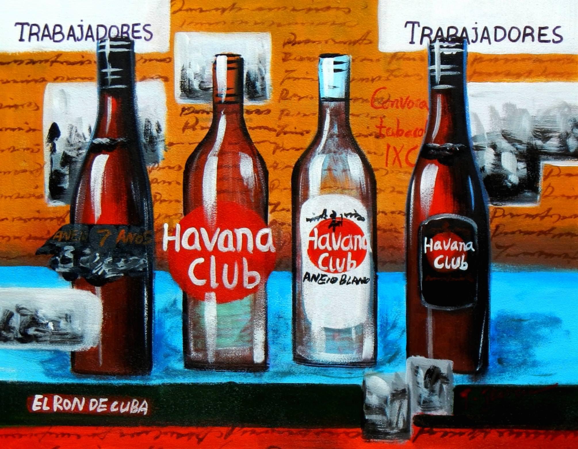 Cuba Havana Club Party a92847 30x40cm Ölgemälde handgemalt