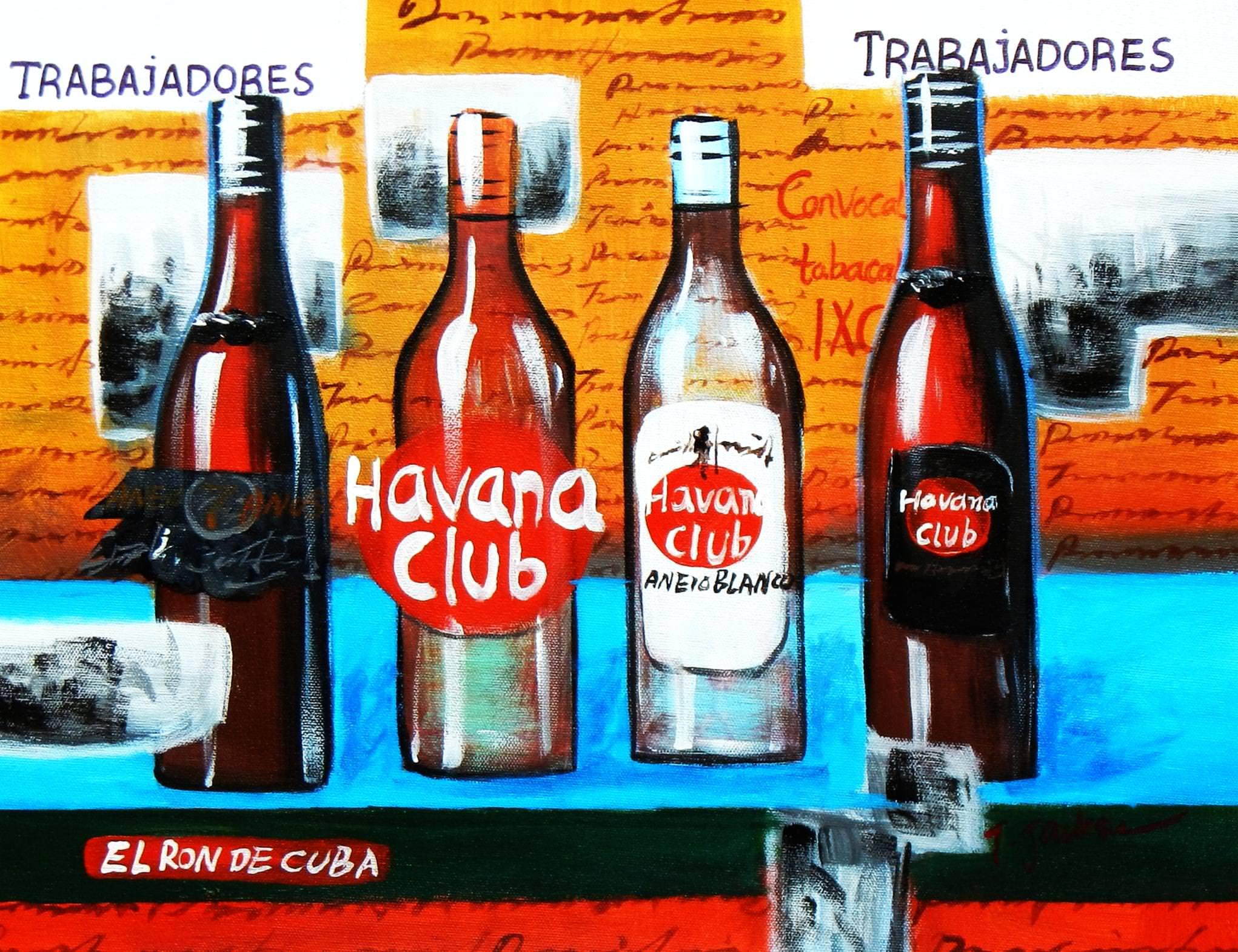 Cuba Havana Club Party a92851 30x40cm Ölgemälde handgemalt