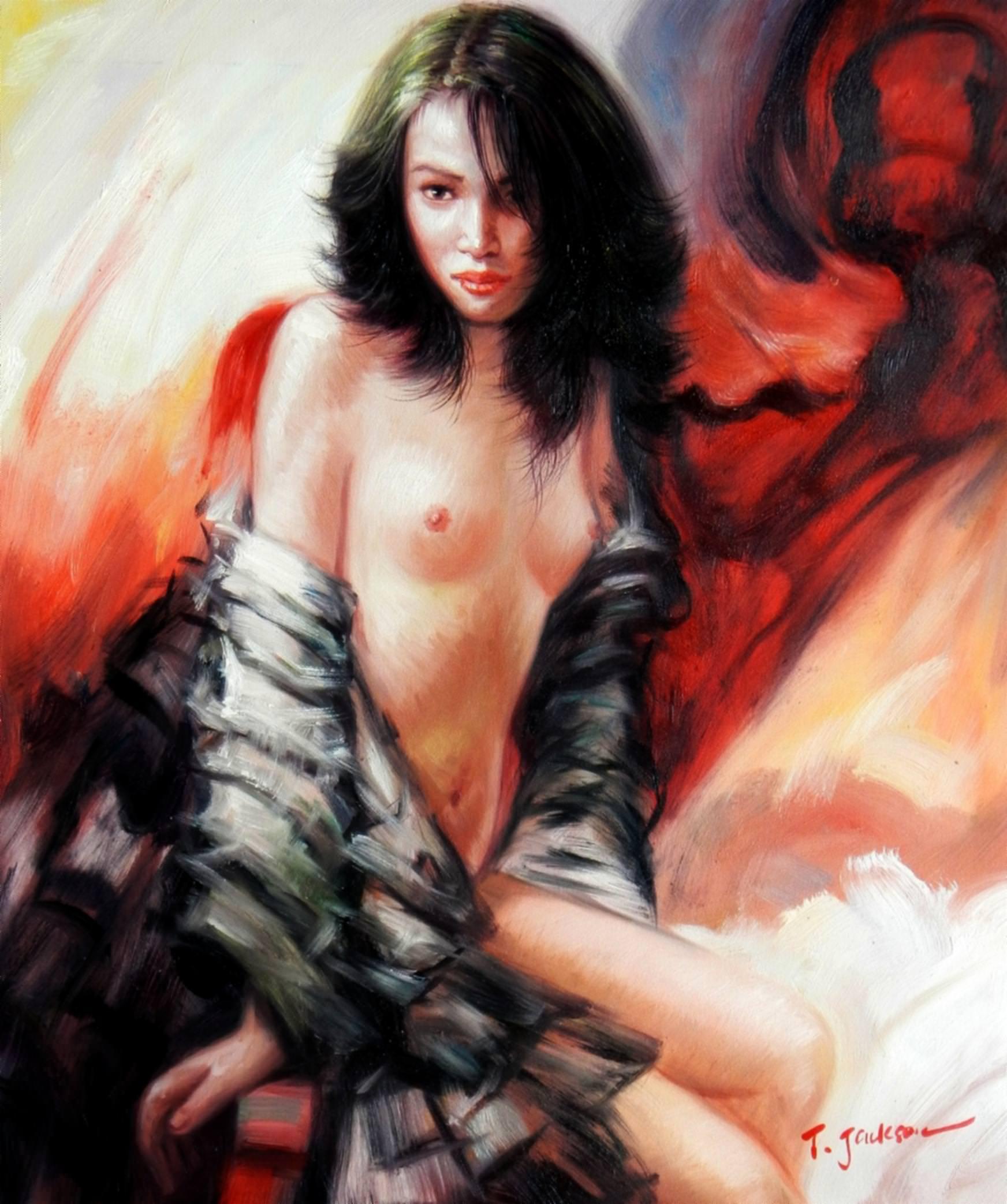 Modern Art - Augenblick Erotik Akt c92863 50x60cm exquisites Gemälde