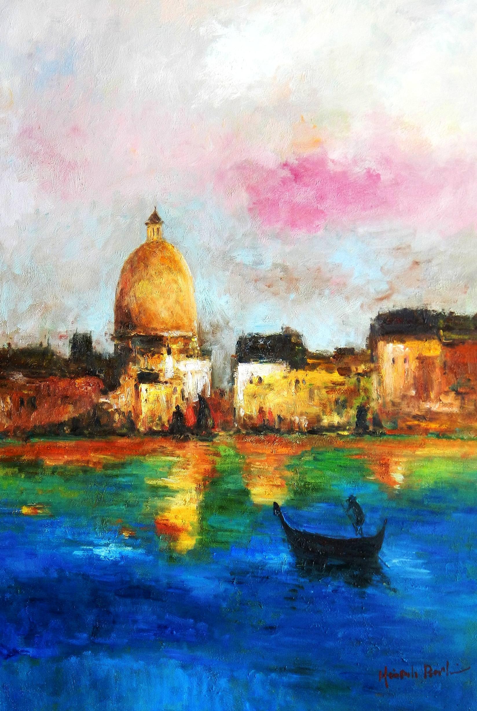 Modern Art - Venedig Canale Grande d92898 60x90cm handgemaltes Gemälde