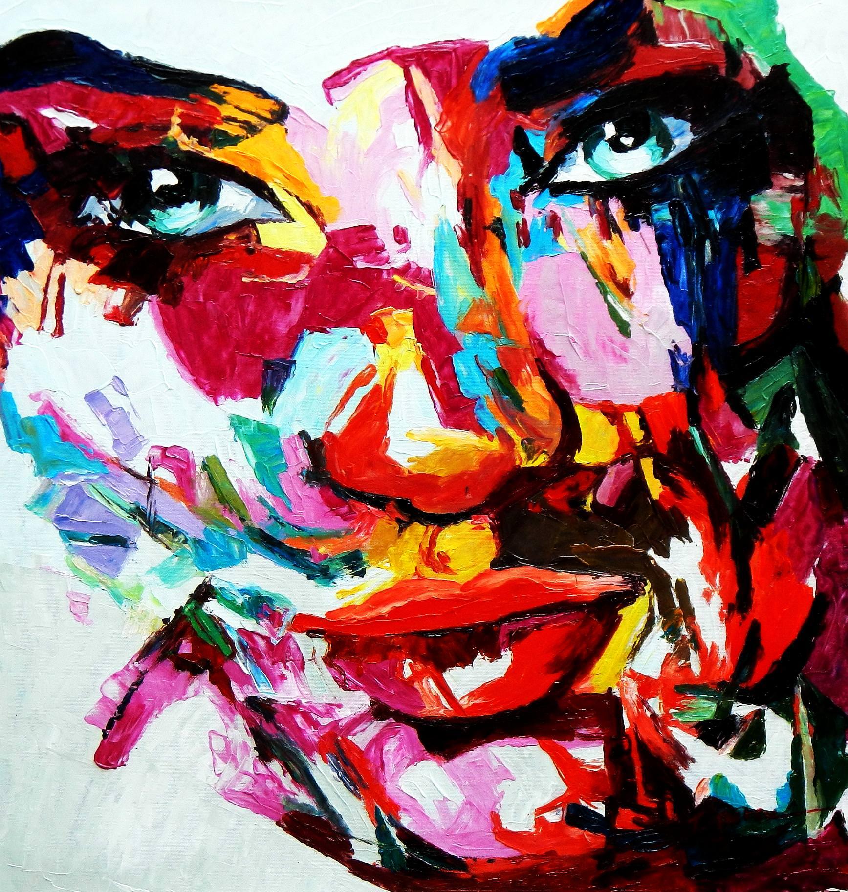Modern Art - Die Schönheit e92919 60x60cm beeindruckendes Gemälde