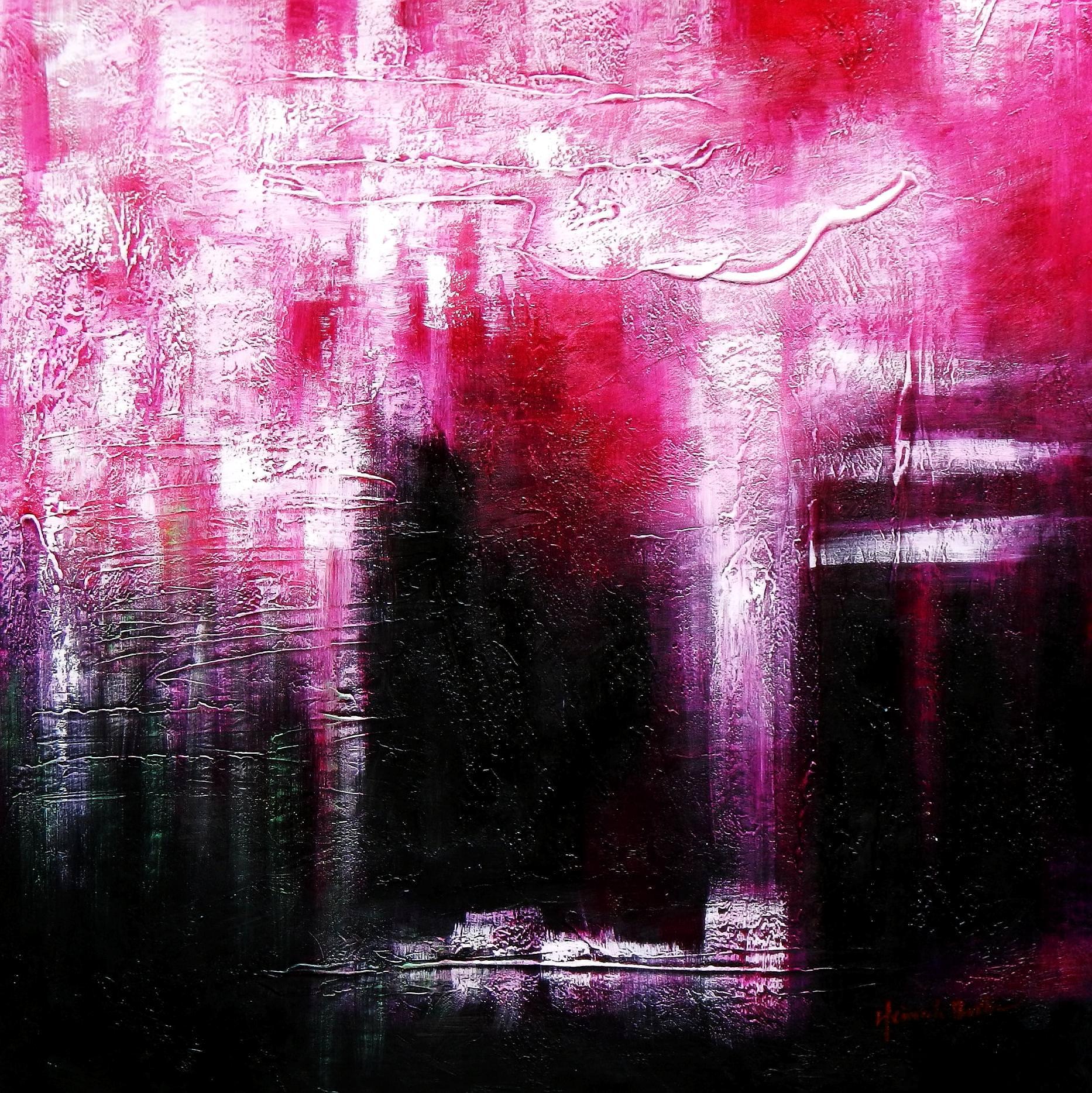 Abstrakt - Himmlisches Licht g92948 80x80cm abstraktes Ölbild handgemalt