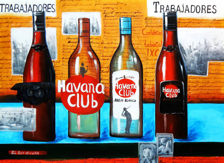 Cuba Havana Club Party i92967 G 80x110cm Ölgemälde handgemalt
