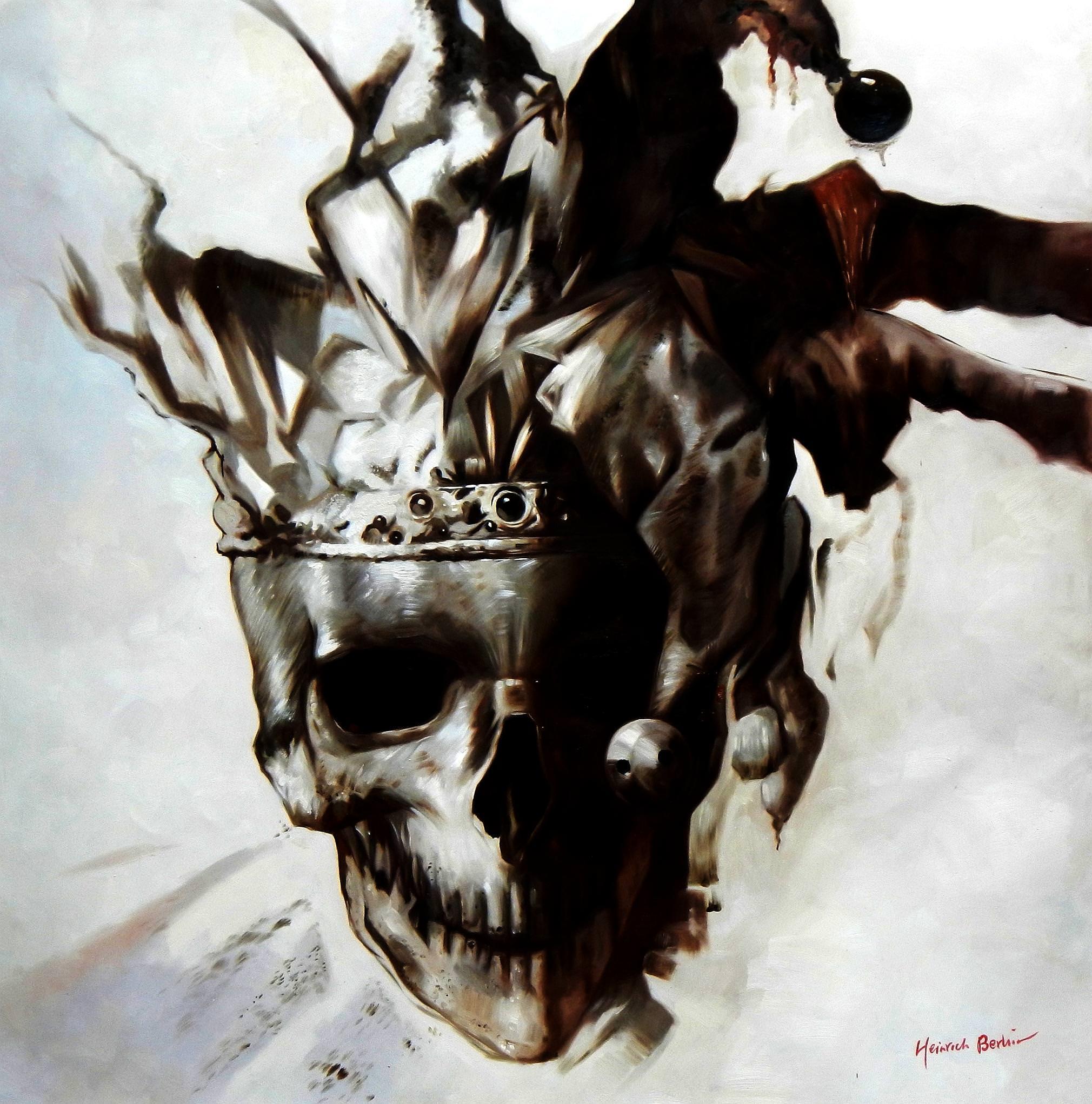 Modern Art - Joker skull m92993 120x120cm exquisites Gemälde
