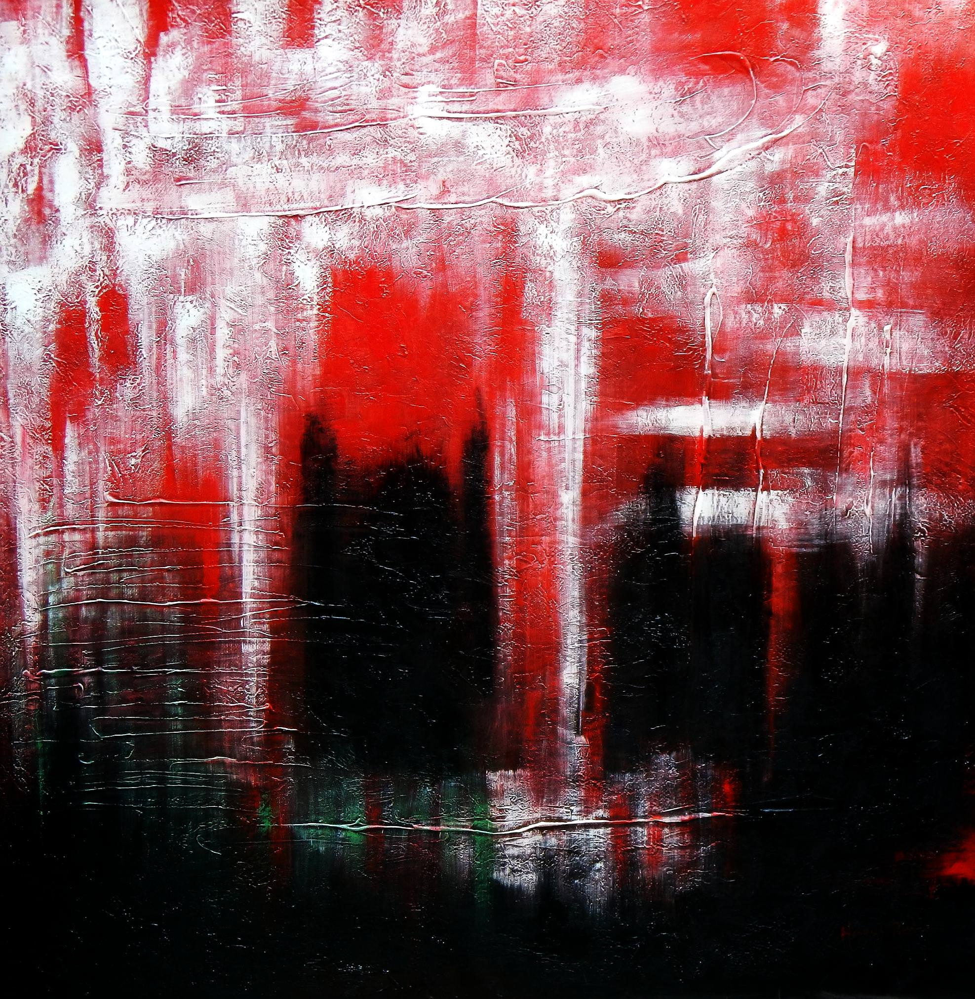 Abstract - Legacy of Fire III m93000 120x120cm abstraktes Ölbild handgemalt