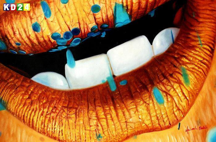 Modern Art - Tender kisses d84264 60x90cm beeindruckendes Ölgemälde