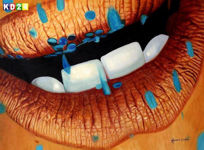 Modern Art - Tender kisses k84368 90x120cm beeindruckendes Ölgemälde