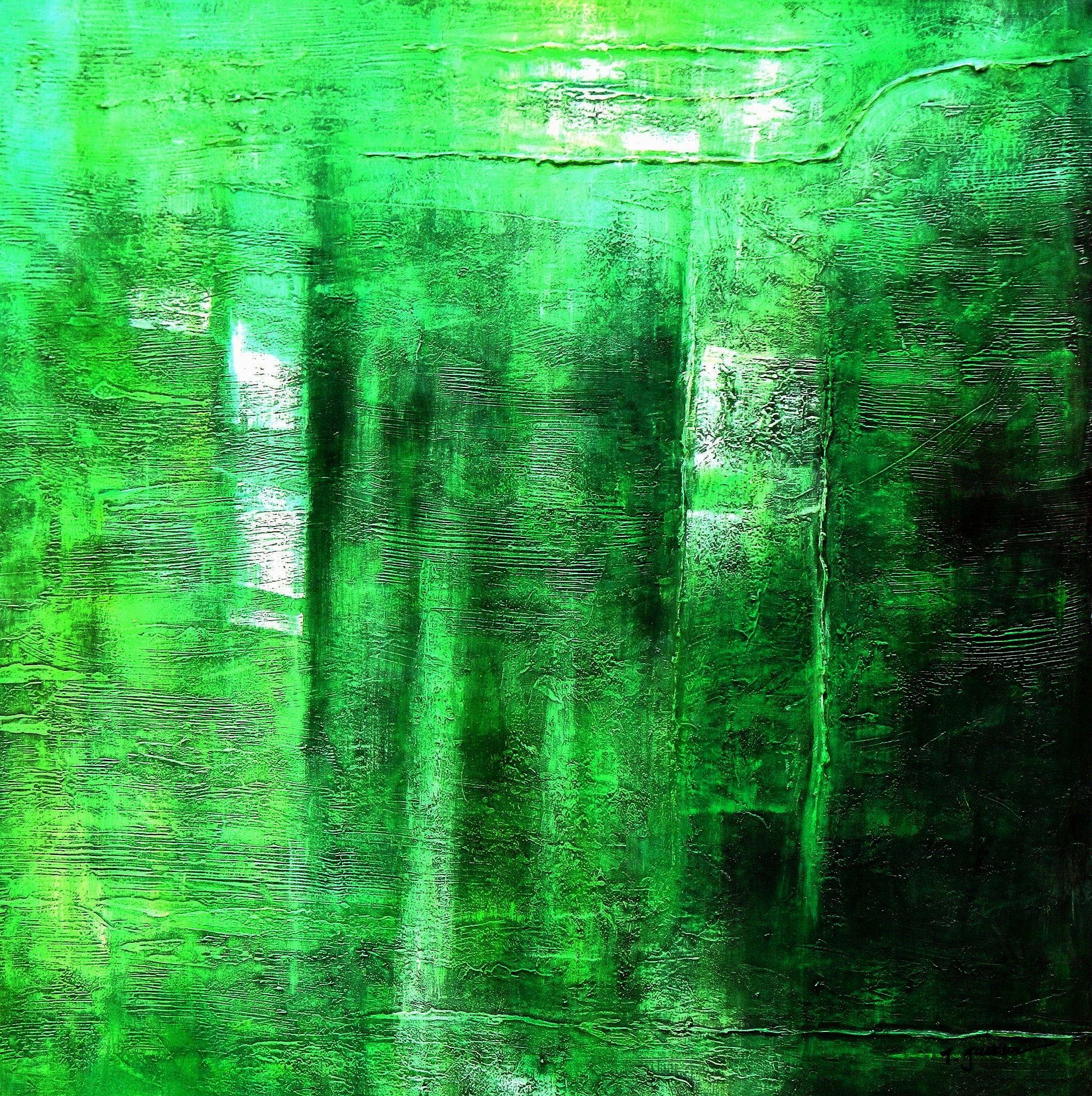 Abstrakt - Berlin an der Siegessäule m96928 120x120cm abstraktes Ölgemälde