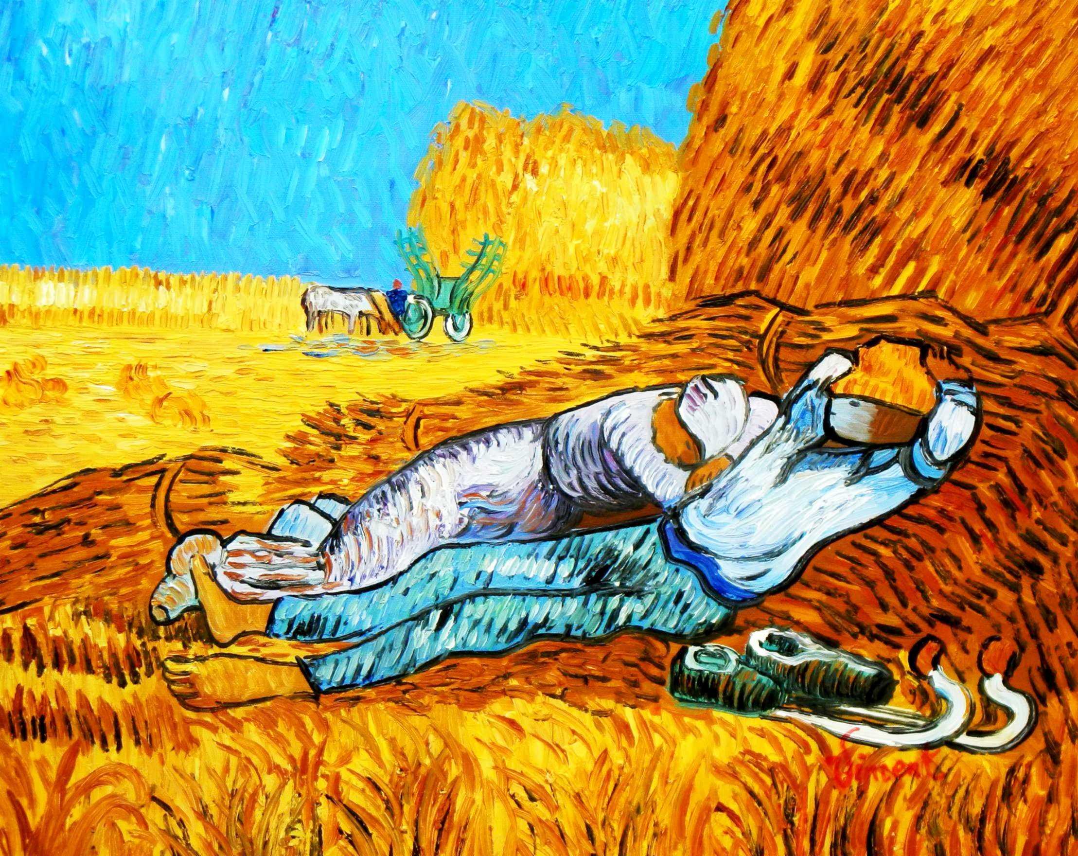 Vincent van Gogh - Ernterast b94793 40x50cm handgemaltes Ölgemälde