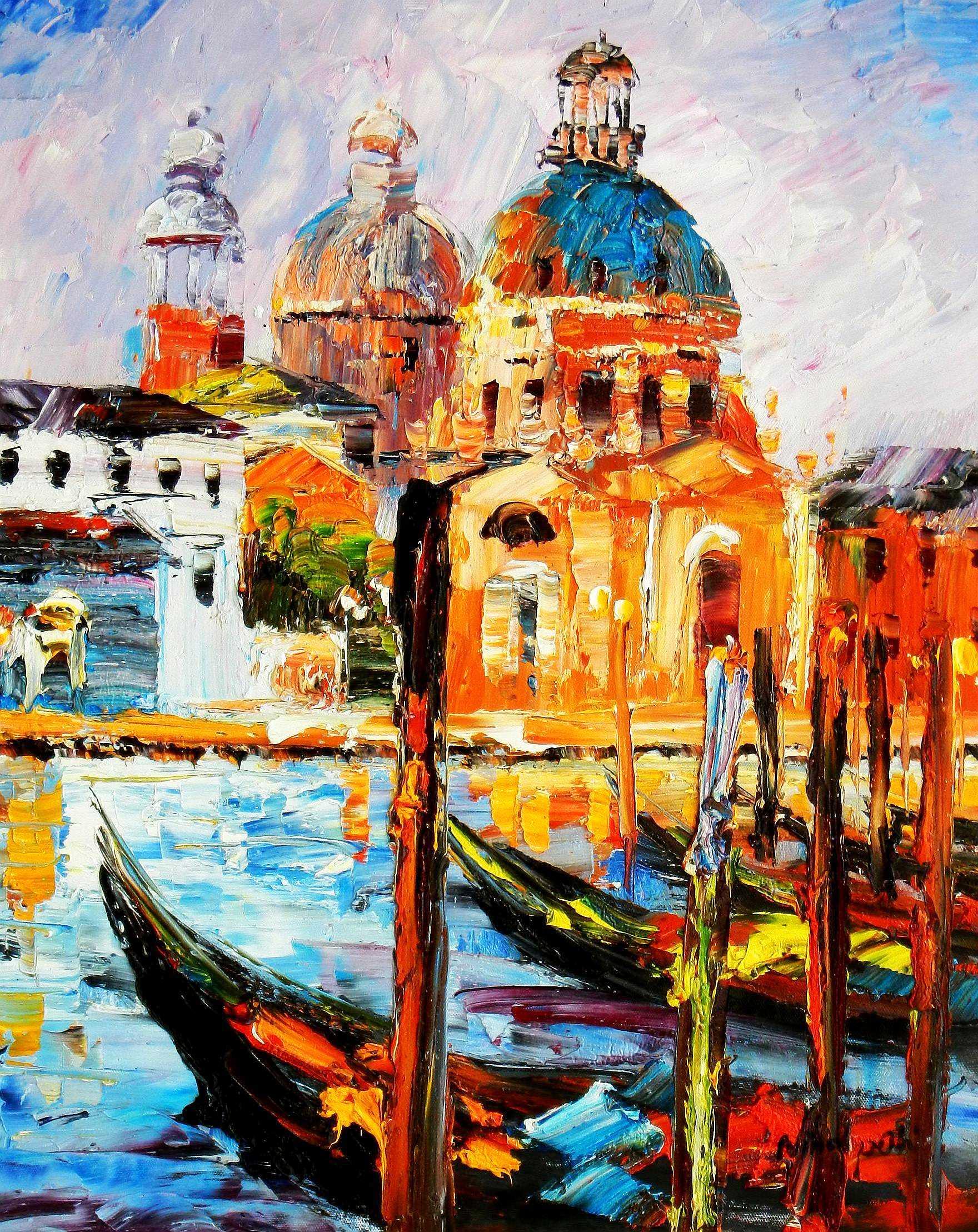 Modern Art - Venedig Canale Grande b94794 40x50cm handgemaltes Gemälde