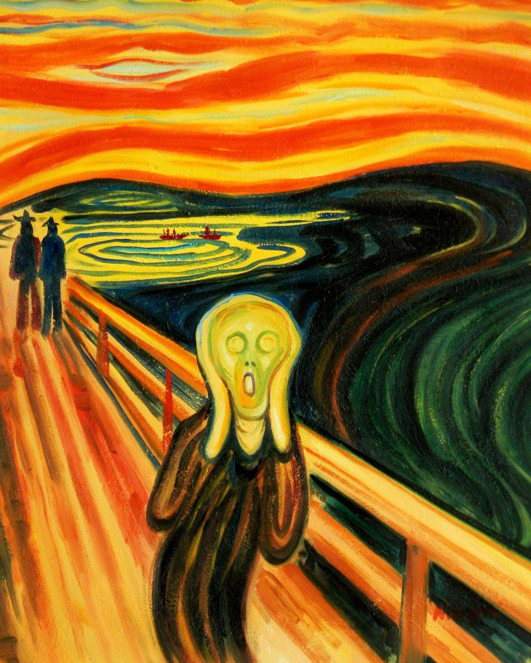 Edvard Munch - Der Schrei b94798 40x50cm handgemaltes Ölgemälde