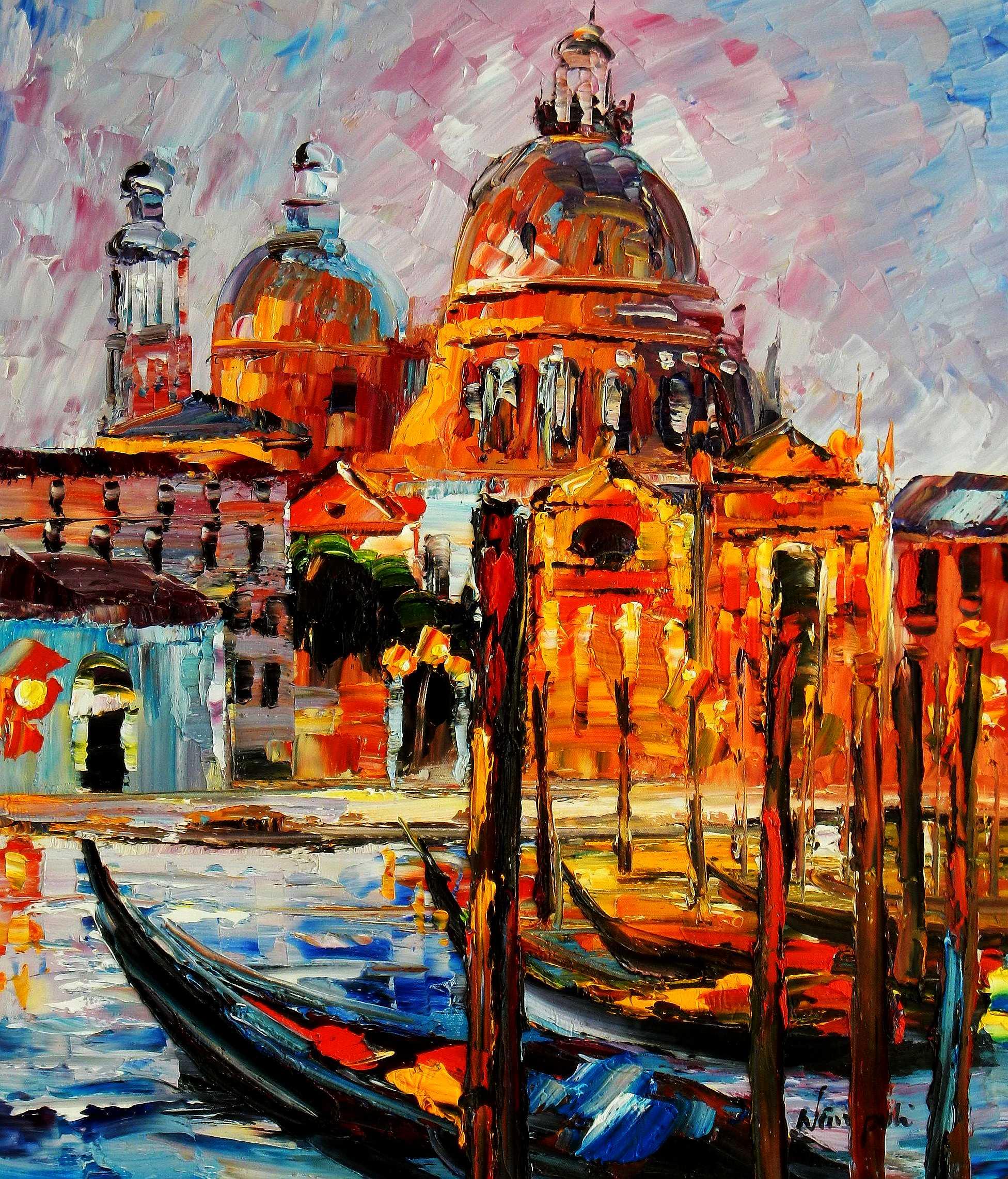 Modern Art - Venedig Canale Grande c94807 50x60cm handgemaltes Gemälde