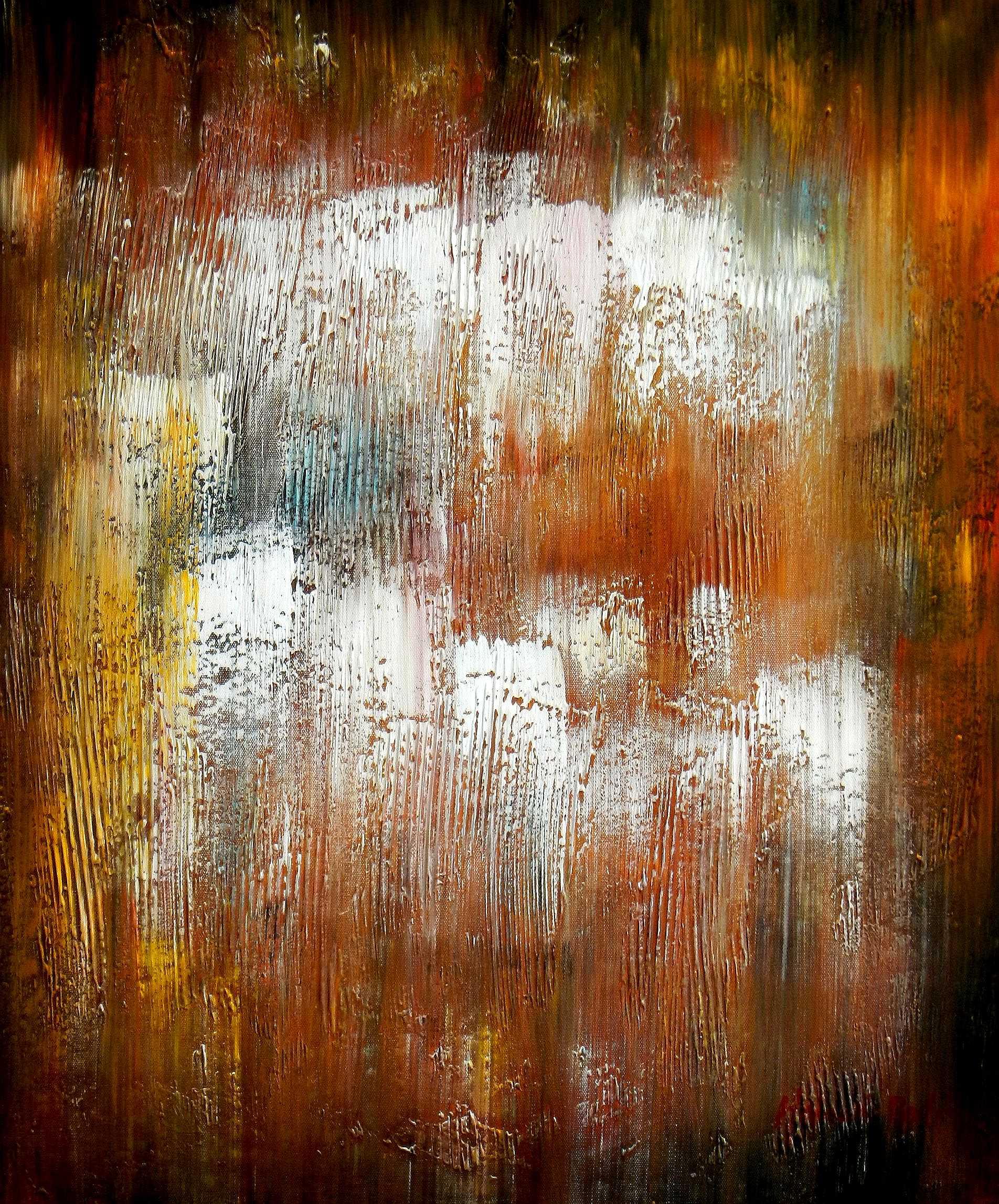Abstrakt - Berlin am Lustgarten c94815 50x60cm Ölbild handgemalt