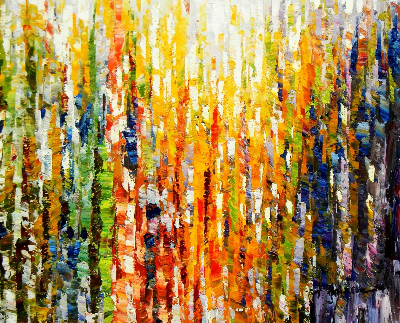 Abstrakt - Durch den Monsun c94832 50x60cm exquisites Ölbild handgemalt