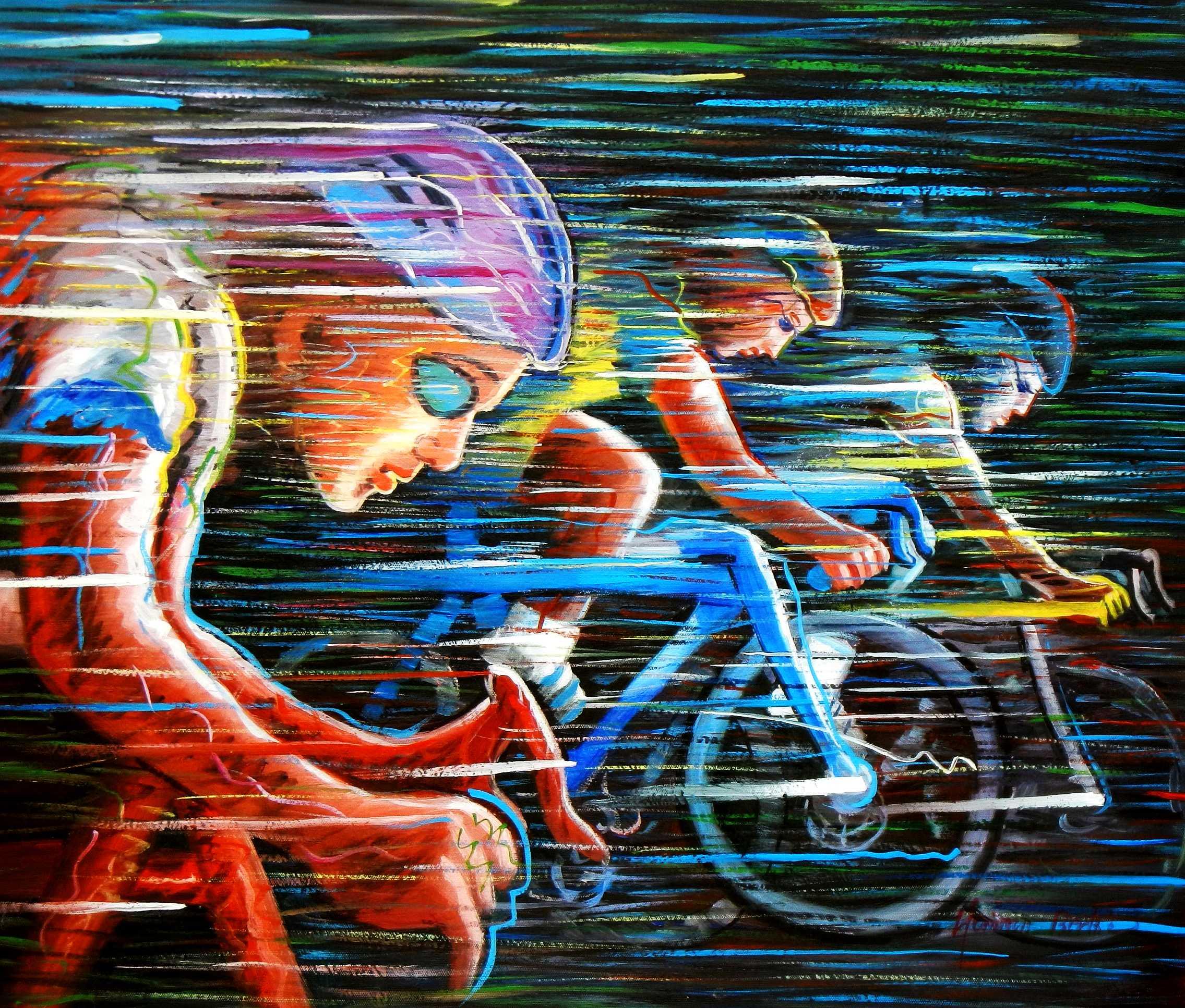 Modern Art - Das Velothon c94843 50x60cm exklusives Ölbild