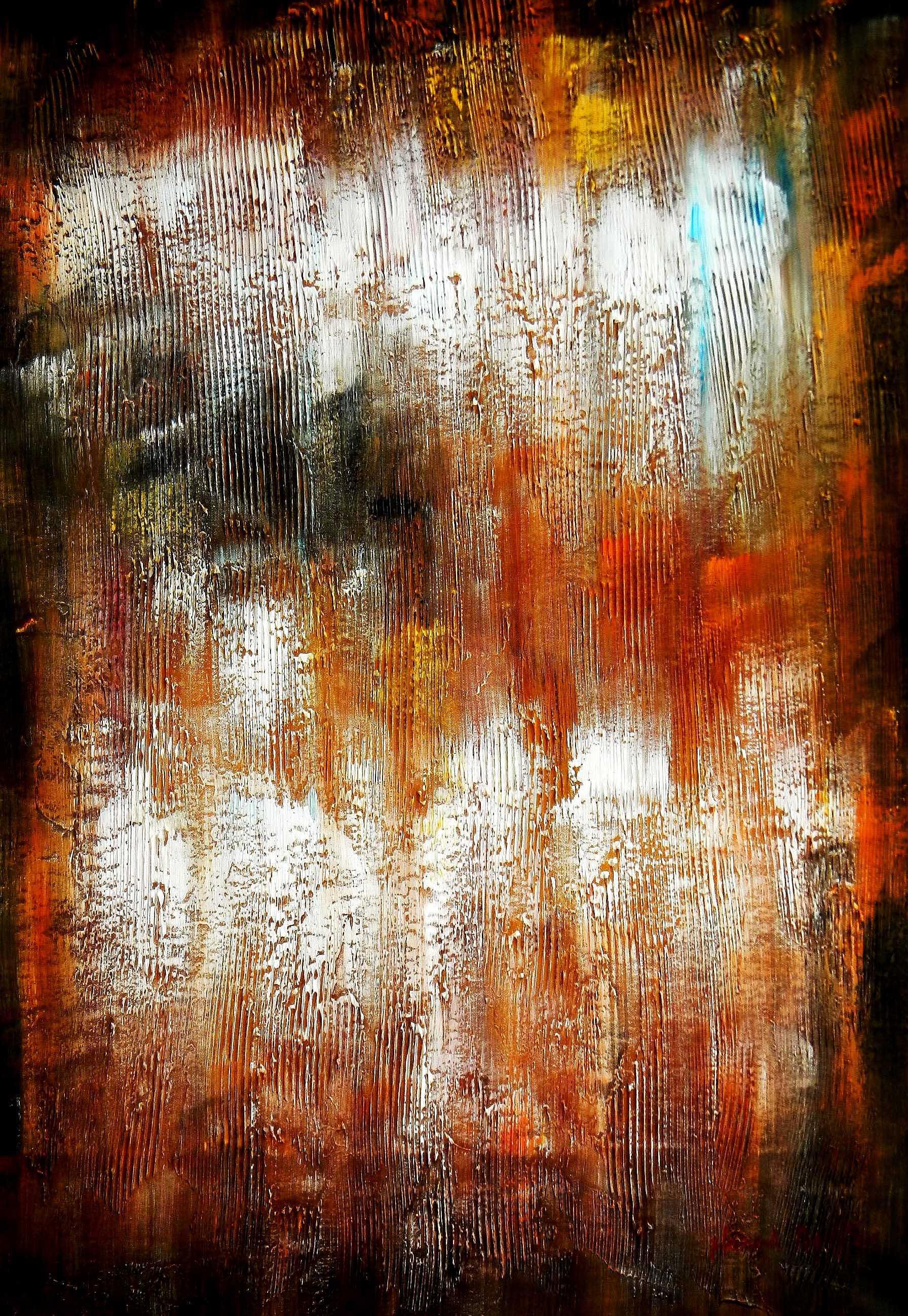Abstrakt - Berlin am Lustgarten d94861 60x90cm Ölbild handgemalt