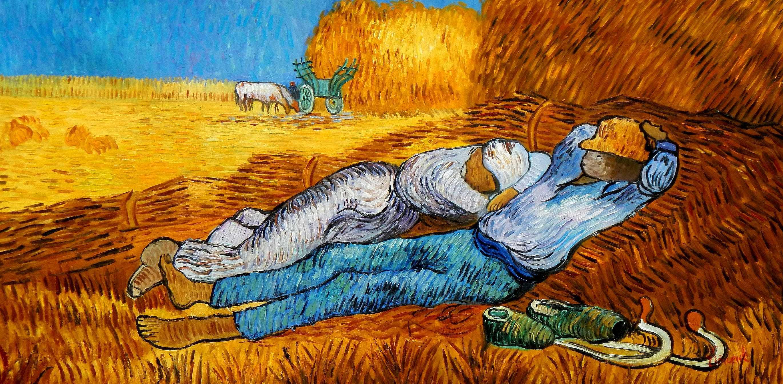 Vincent van Gogh - Ernterast f94940 60x120cm handgemaltes Ölgemälde