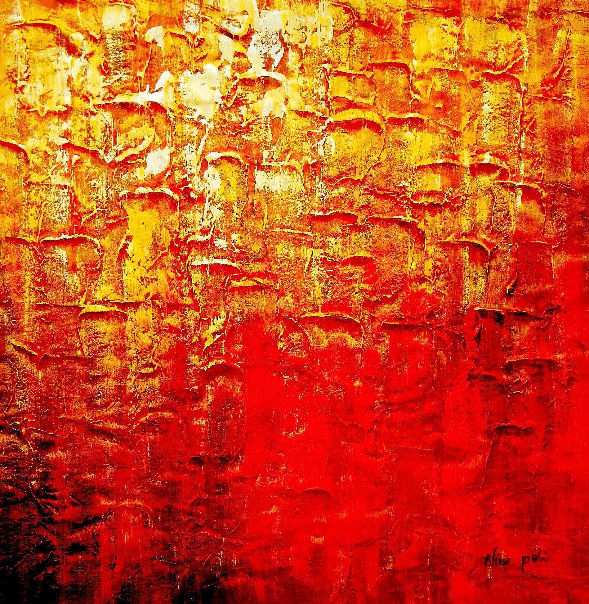 Abstract - Legacy of Fire III g94951 80x80cm abstraktes Ölbild handgemalt