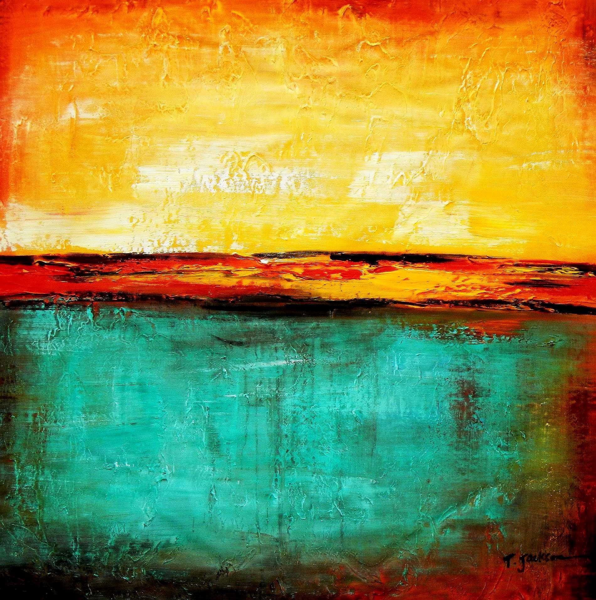 Abstract - Mirage in Babylon g94958 G 77x77cm (aufgespannt auf 4 cm Galeriekeilrahmen) abstraktes Ölbild