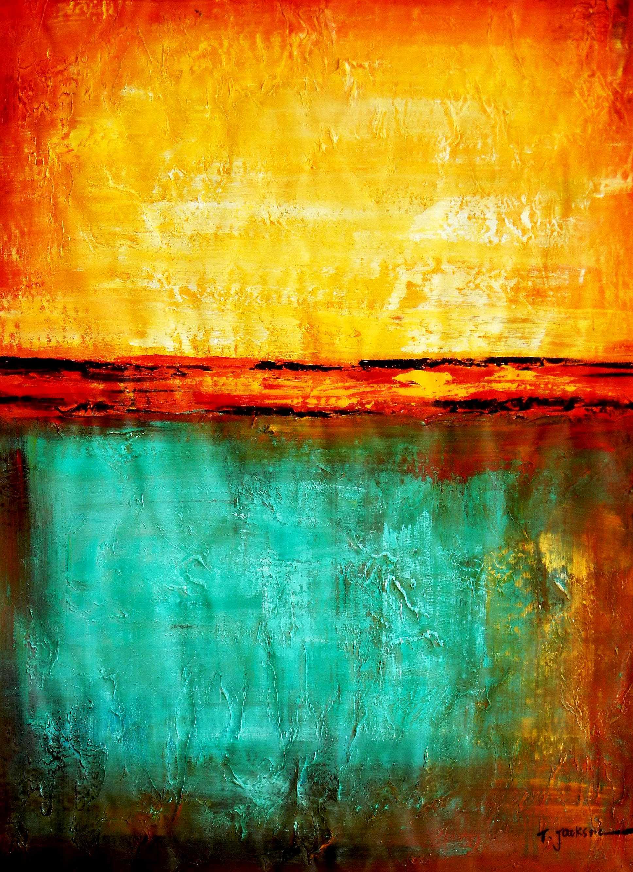 Abstract - Mirage in Babylon i94977 80x110cm abstraktes Ölbild