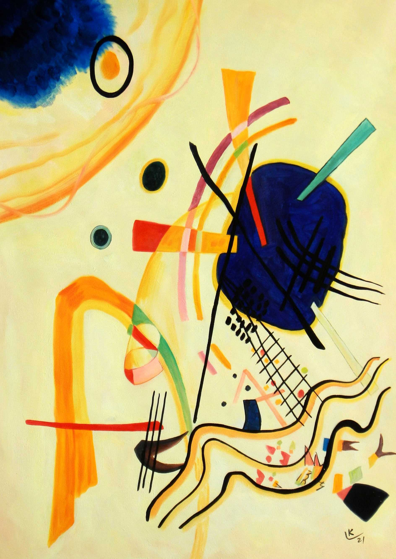 Wassily Kandinsky - Ohne Titel 1921 i94979 80x110cm Ölbild handgemalt