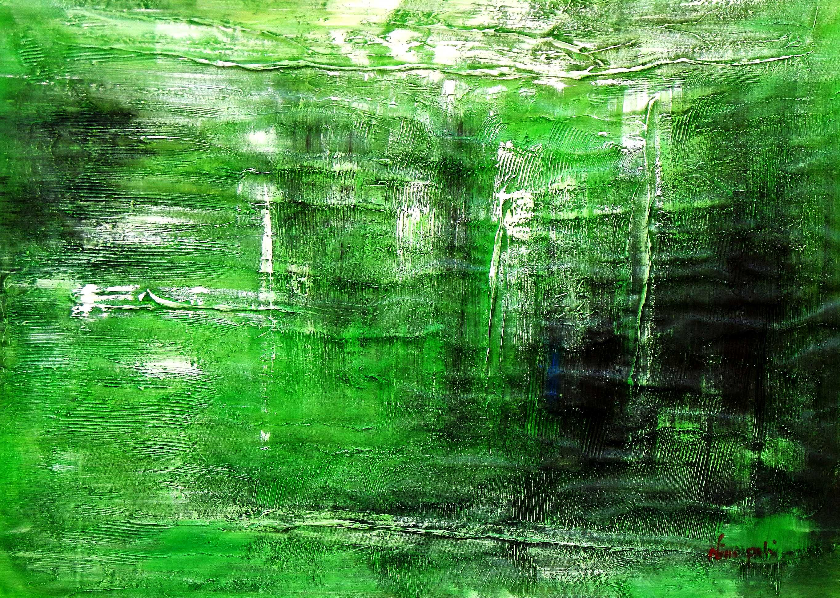 Abstract - Ireland Summer games i94987 80x110cm abstraktes Gemälde