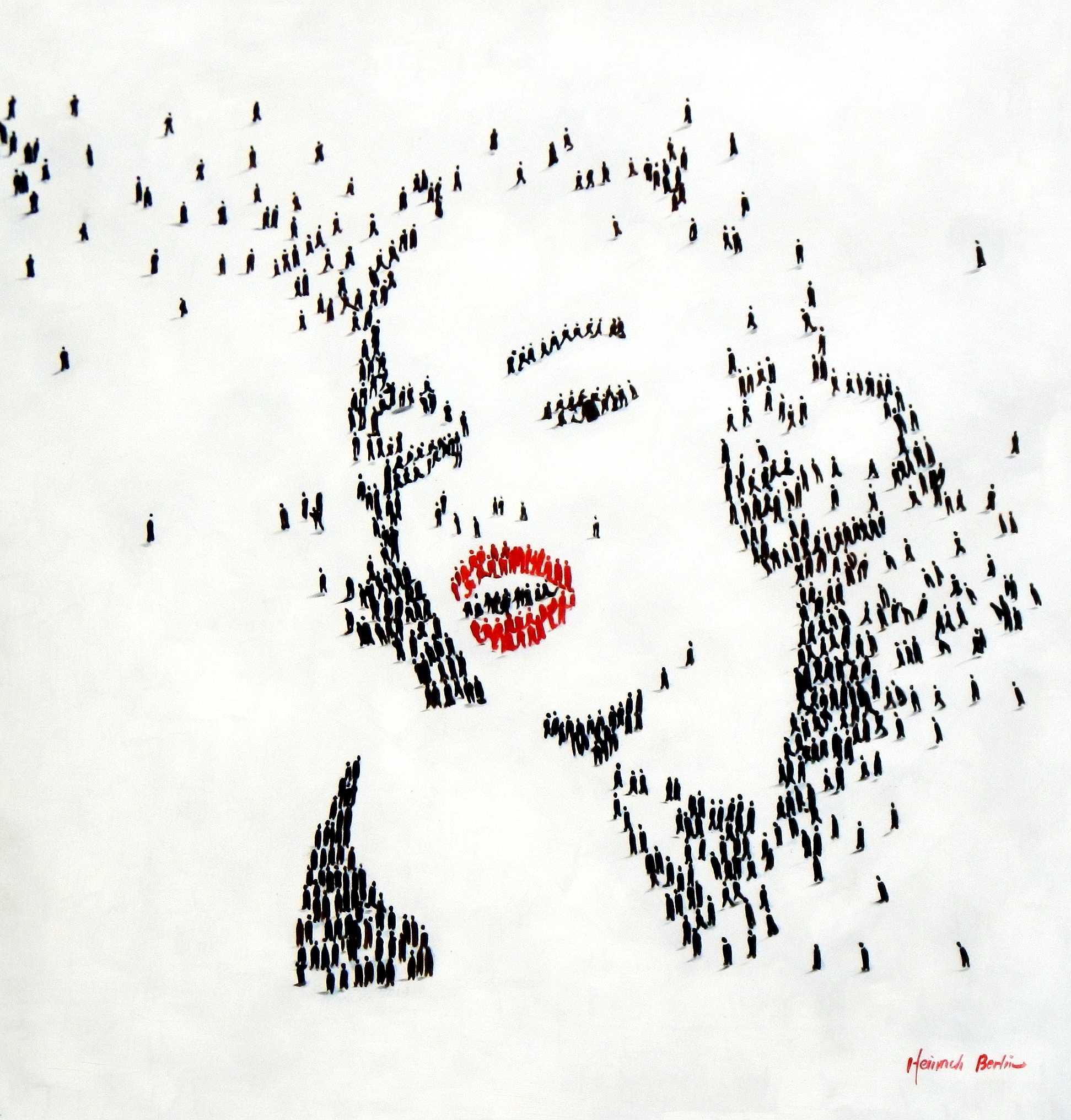 Modern Art - Marylin Monroes people m95024 120x120cm eindrucksvolles Gemälde handgemalt