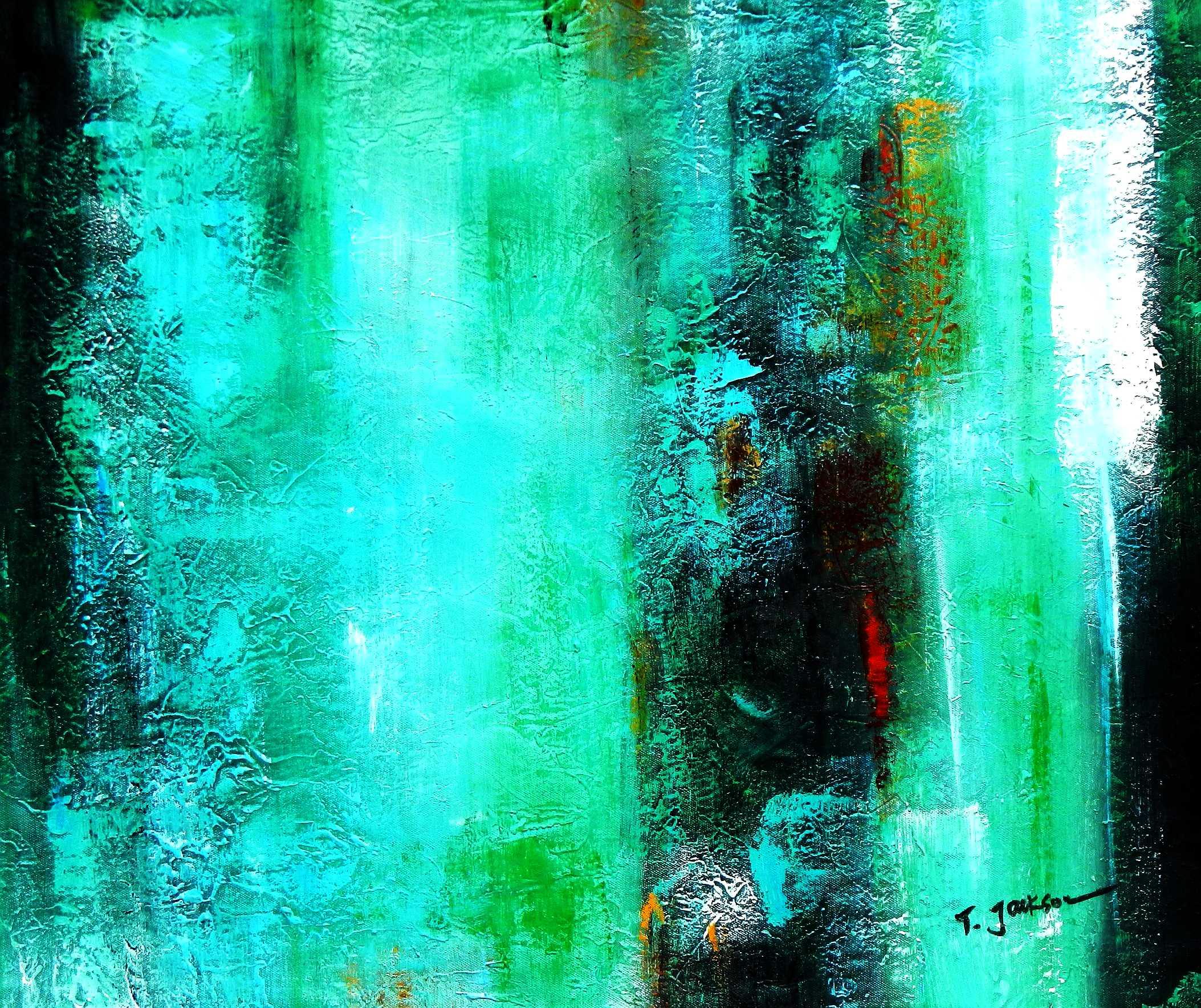 Abstract - Ireland Summer games c95772 50x60cm abstraktes Gemälde