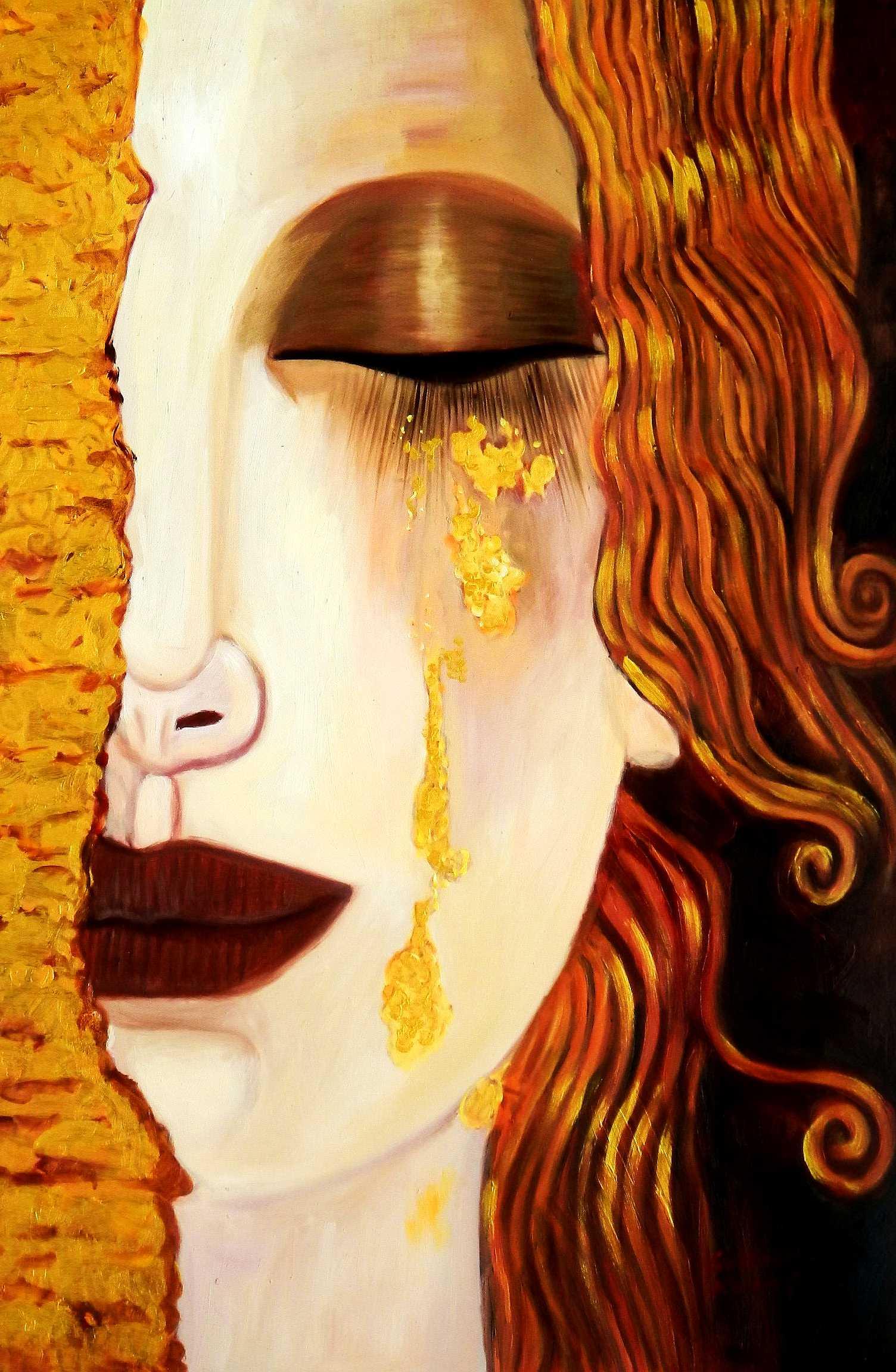 Modern Art - venetian crying d95812 60x90cm Ölbild handgemalt