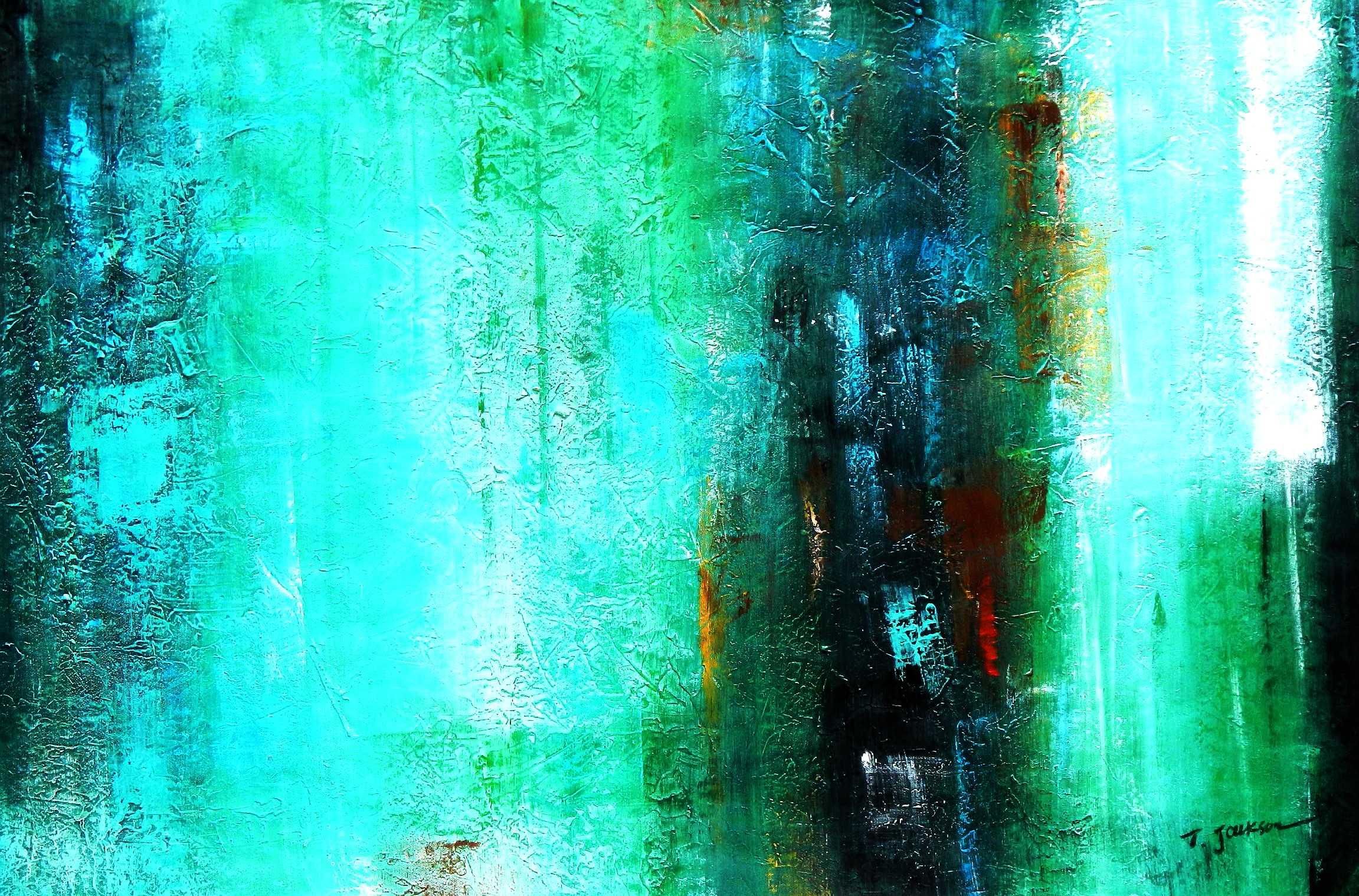 Abstract - Ireland Summer games d95834 60x90cm abstraktes Gemälde