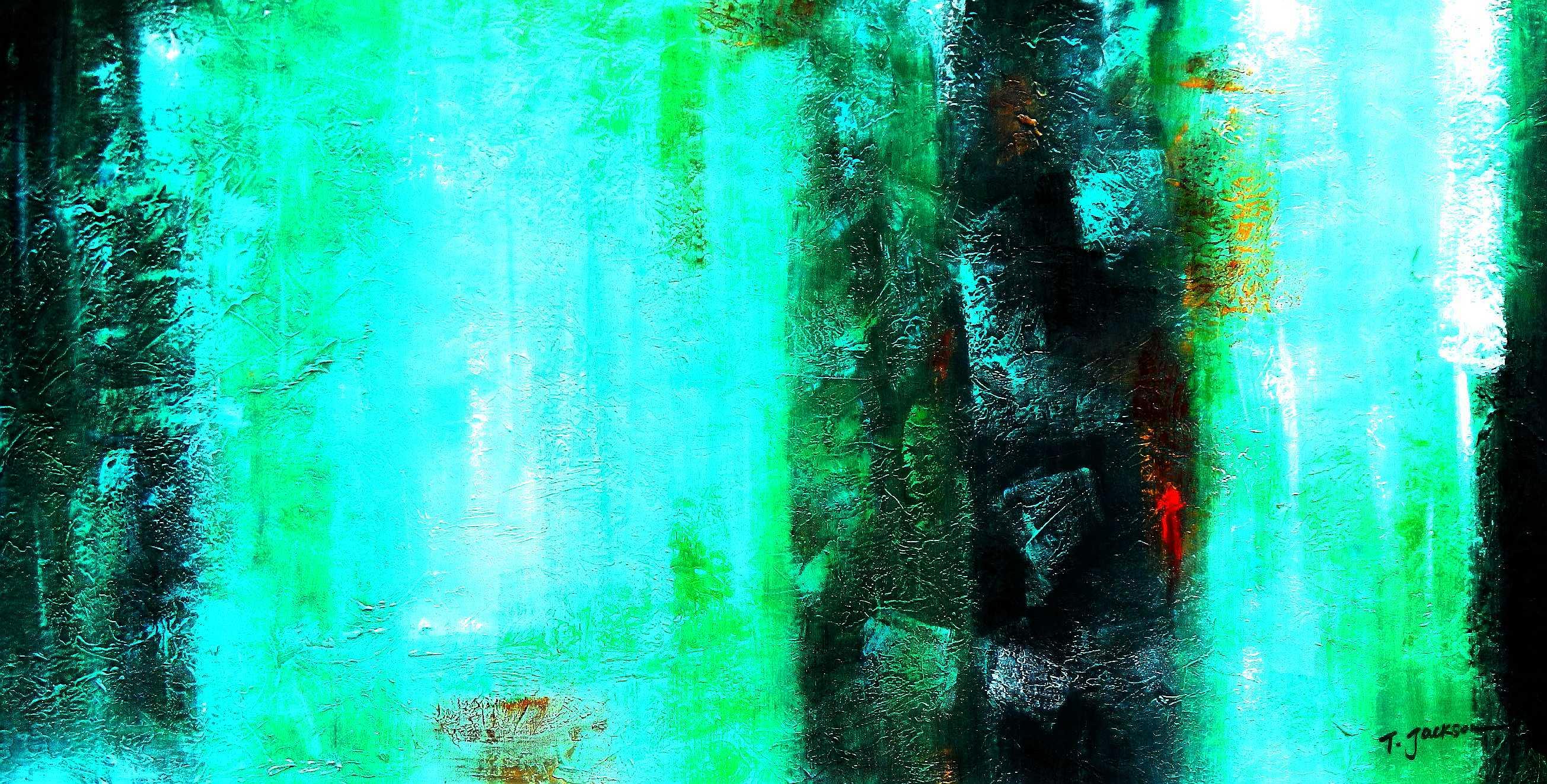 Abstract - Ireland Summer games f95857 60x120cm abstraktes Gemälde