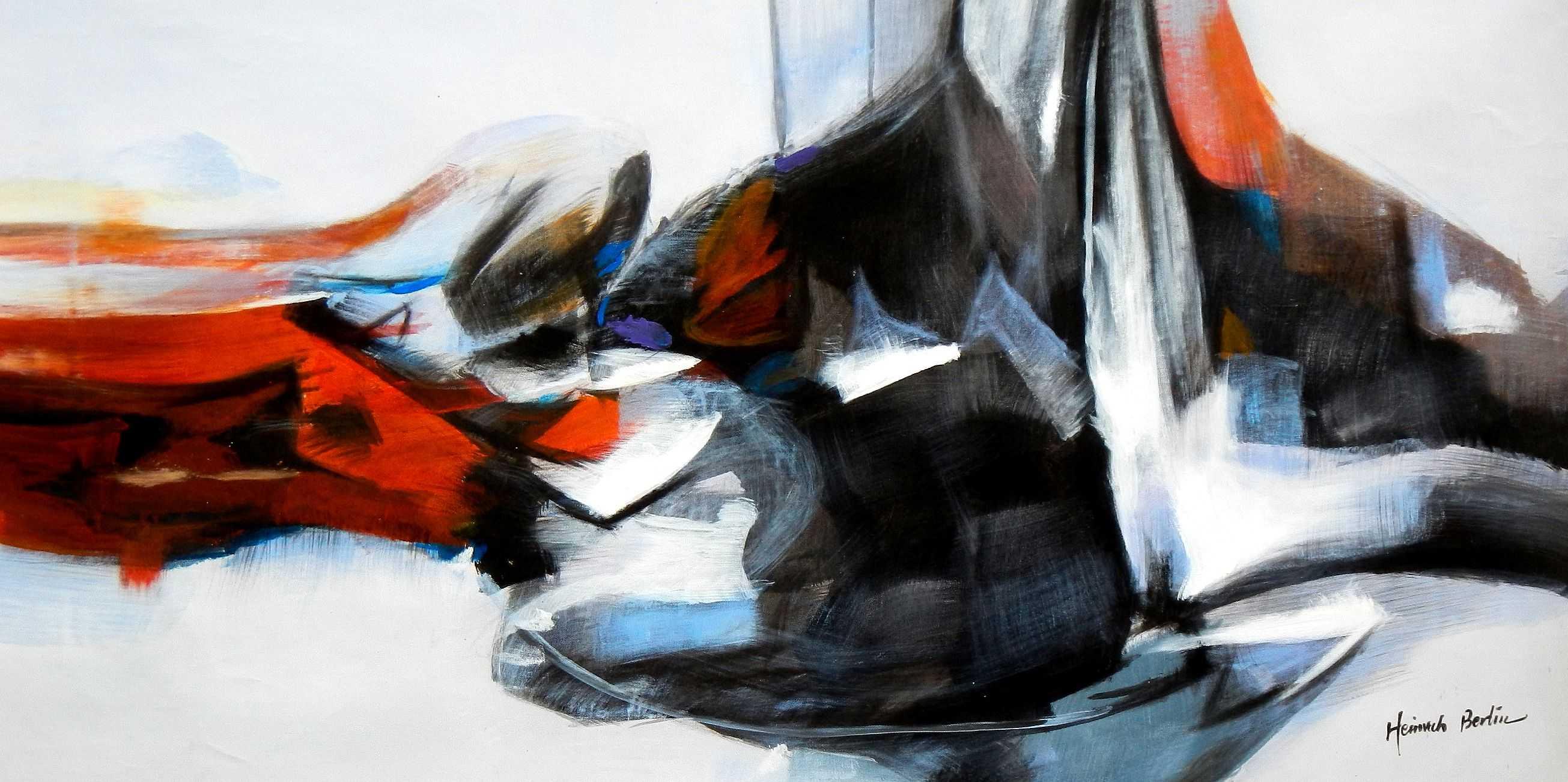 Abstract - Fallen Angel f95861 60x120cm abstraktes Ölbild
