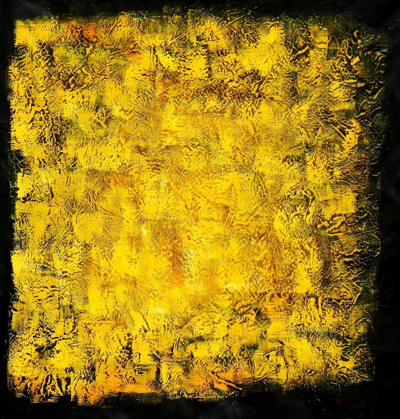 Abstract - Black Citrin g95868 80x80cm abstraktes Ölbild